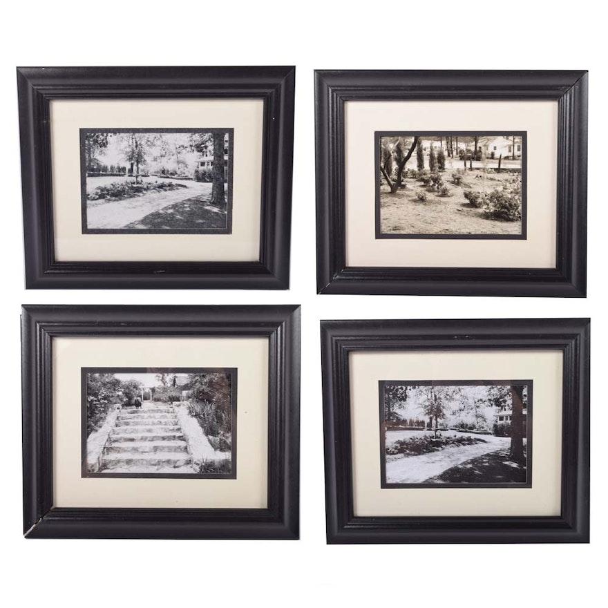 Collection of Vintage Black & White Photographs of The VanLandingham Estate