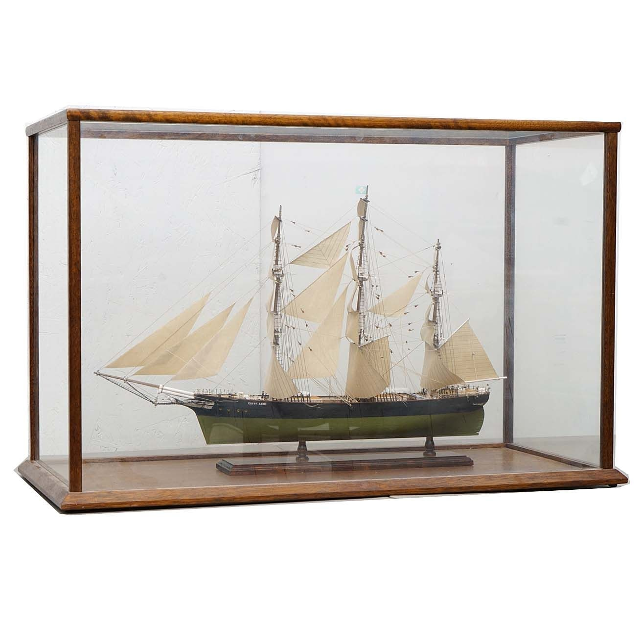 Cutty Sark Model Ship in Vitrine