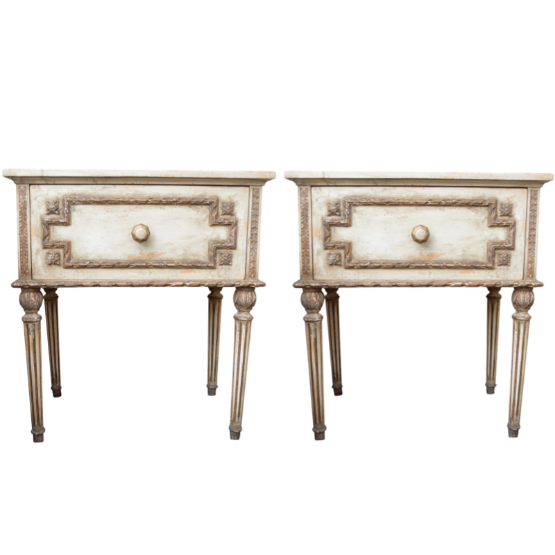 Pair of Neoclassical Style Side Tables from John-Richard