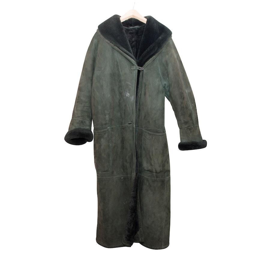 b16bceb45675 Men s Vintage Sawyer of Napa Black Leather and Wool Coat   EBTH