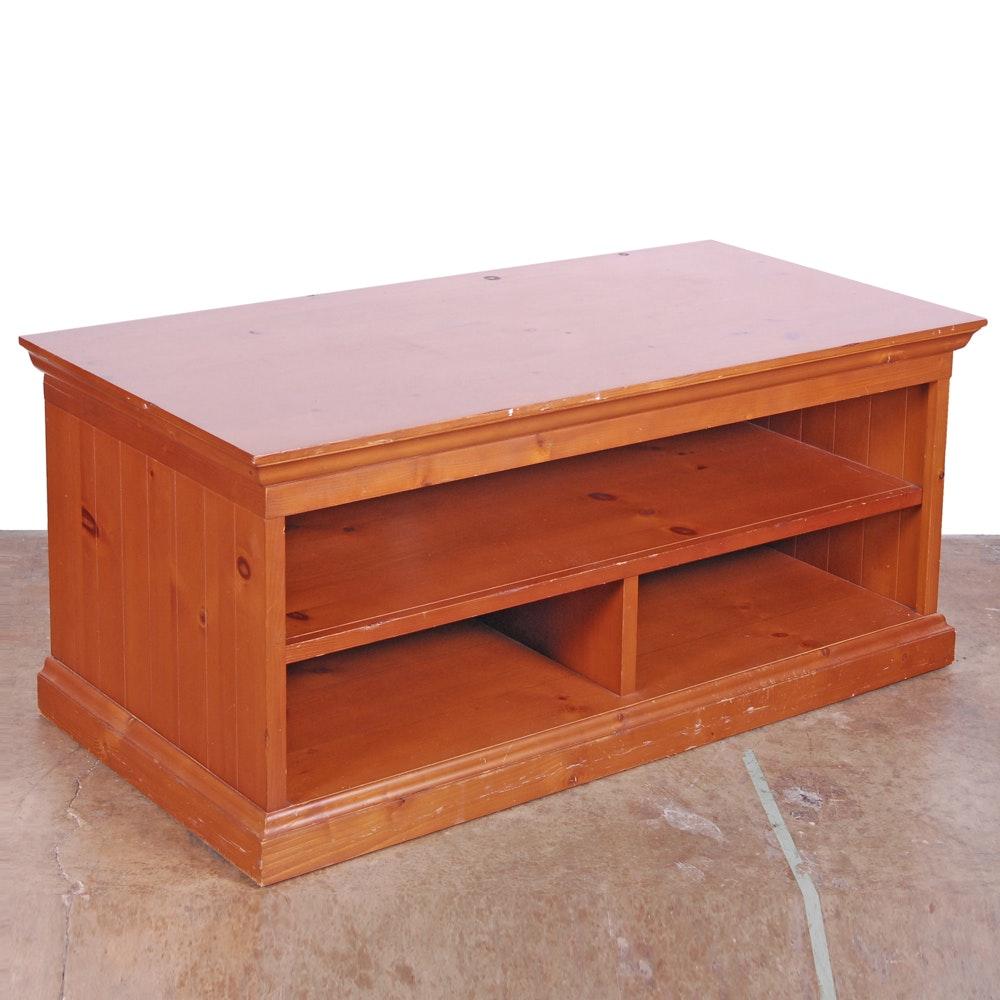 Pine Open Media Cabinet