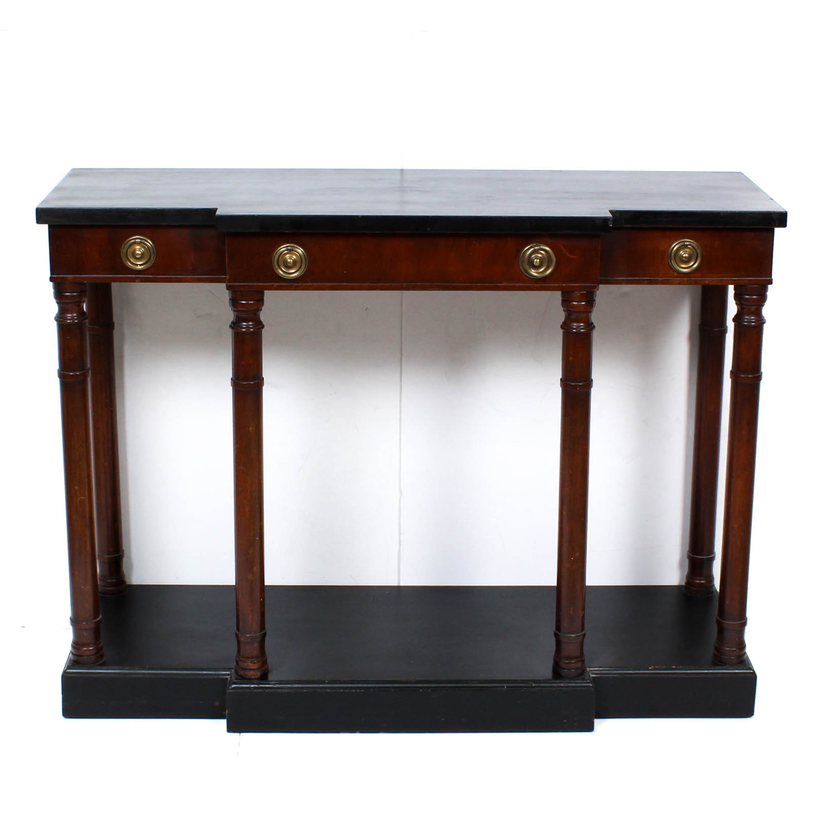 Contemporary Wood Console Table ...