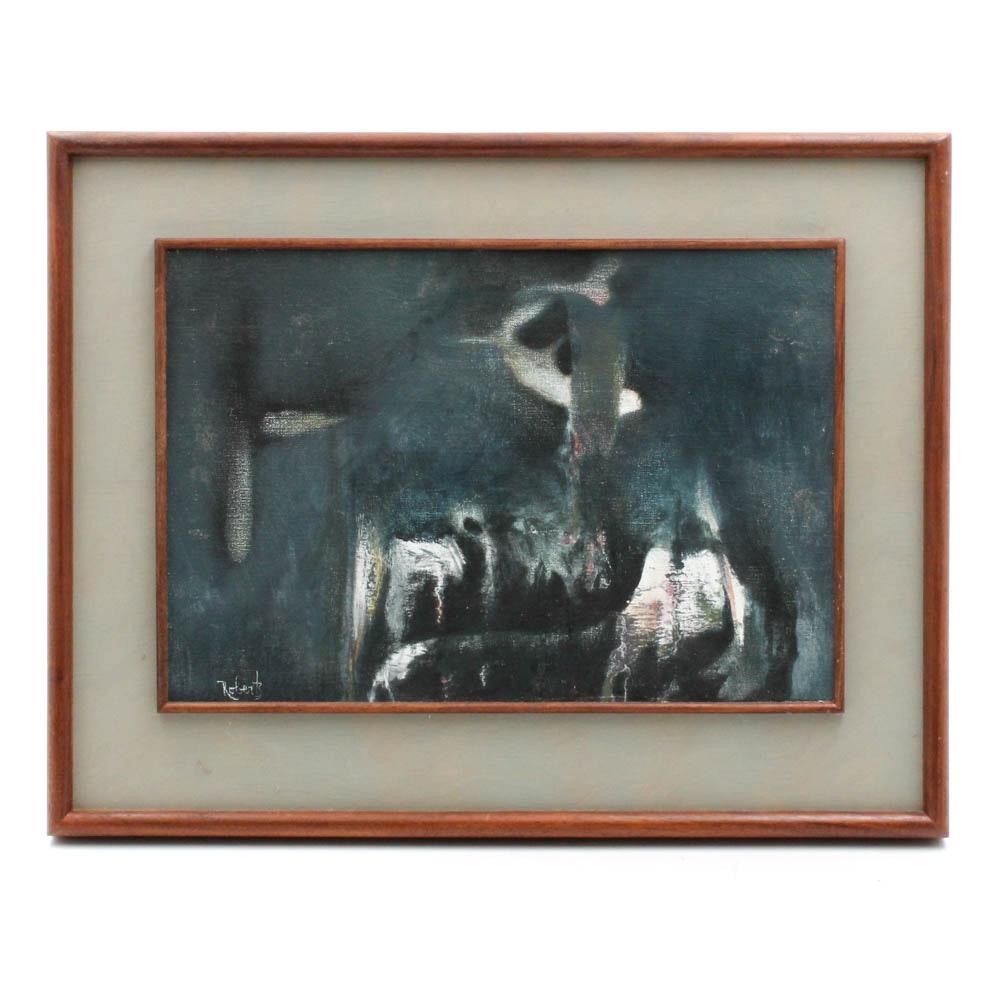 """Donald Roberts 2008 Oil on Canvas on Panel """"Twilight Garden"""""""