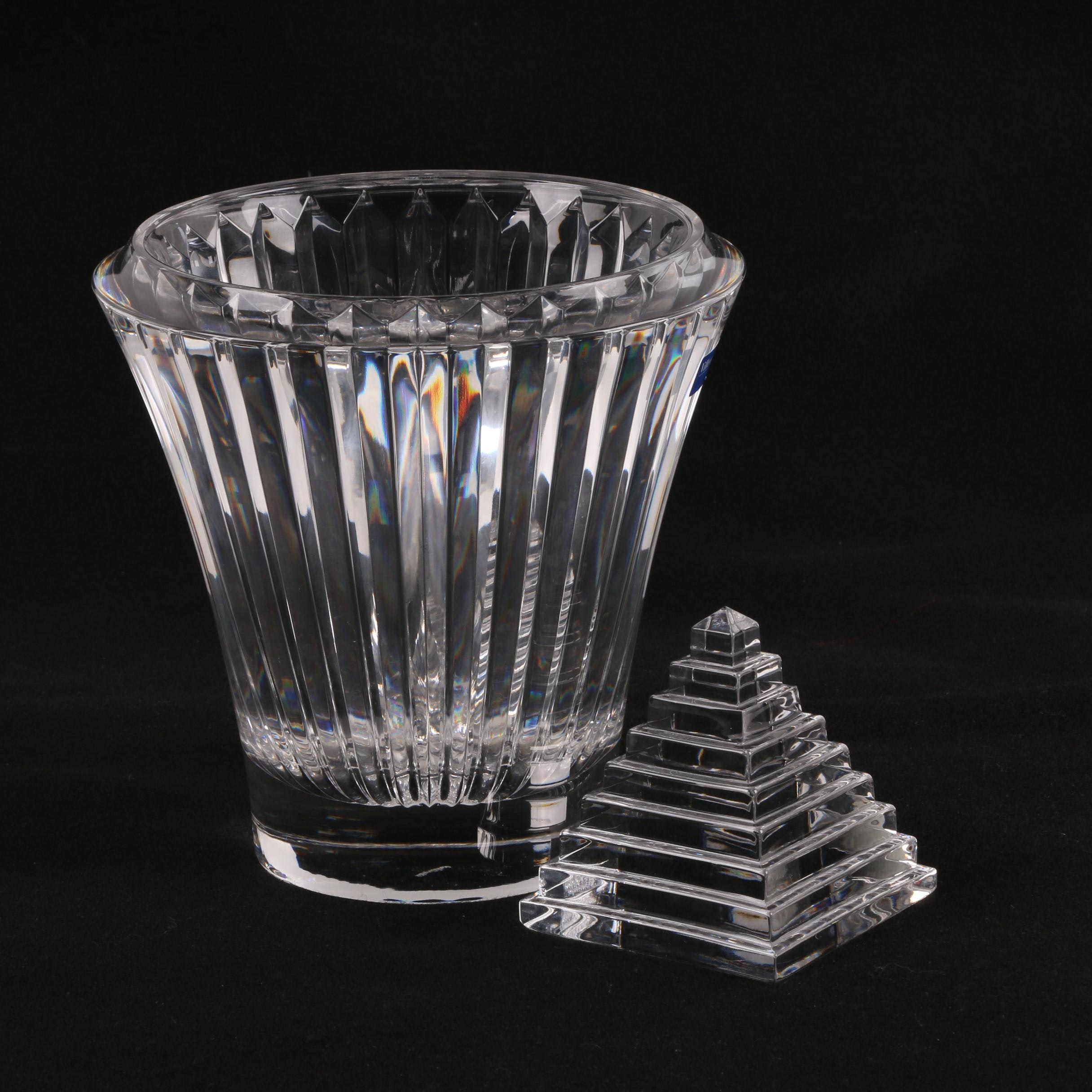 Villeroy & Boch Crystal Flower Vase and Pyramid Paperweight