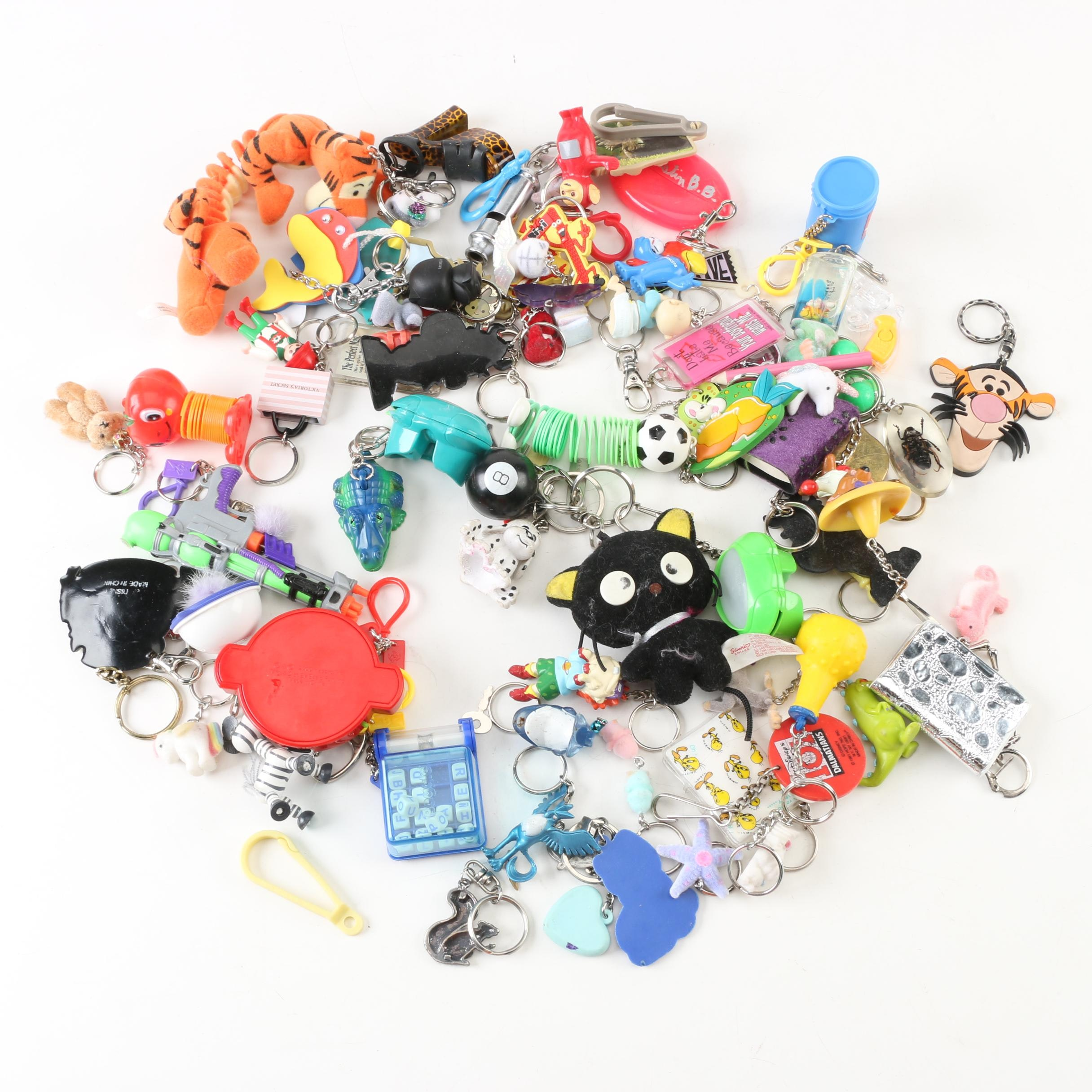 Tigger, Teletubbies and Other Character Keychains