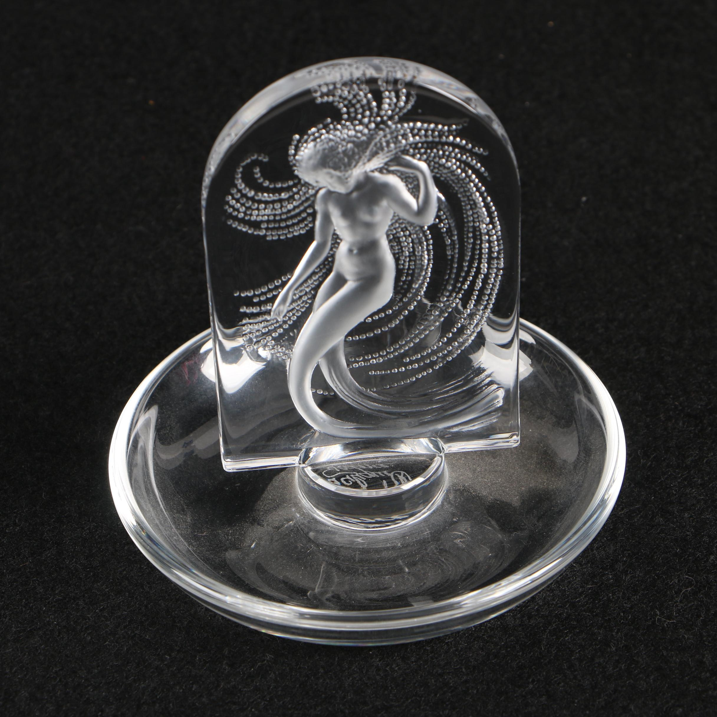 """Lalique Crystal """"Naiade"""" Pin Tray"""
