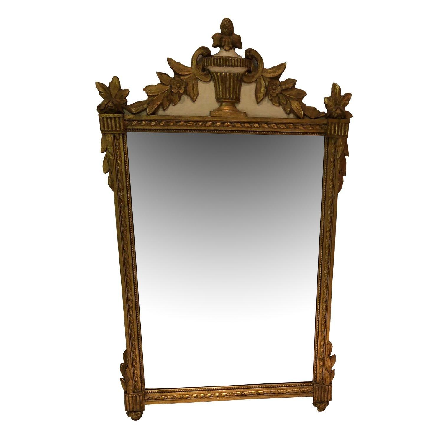 Giltwood Greek Revival Style Wall Mirror