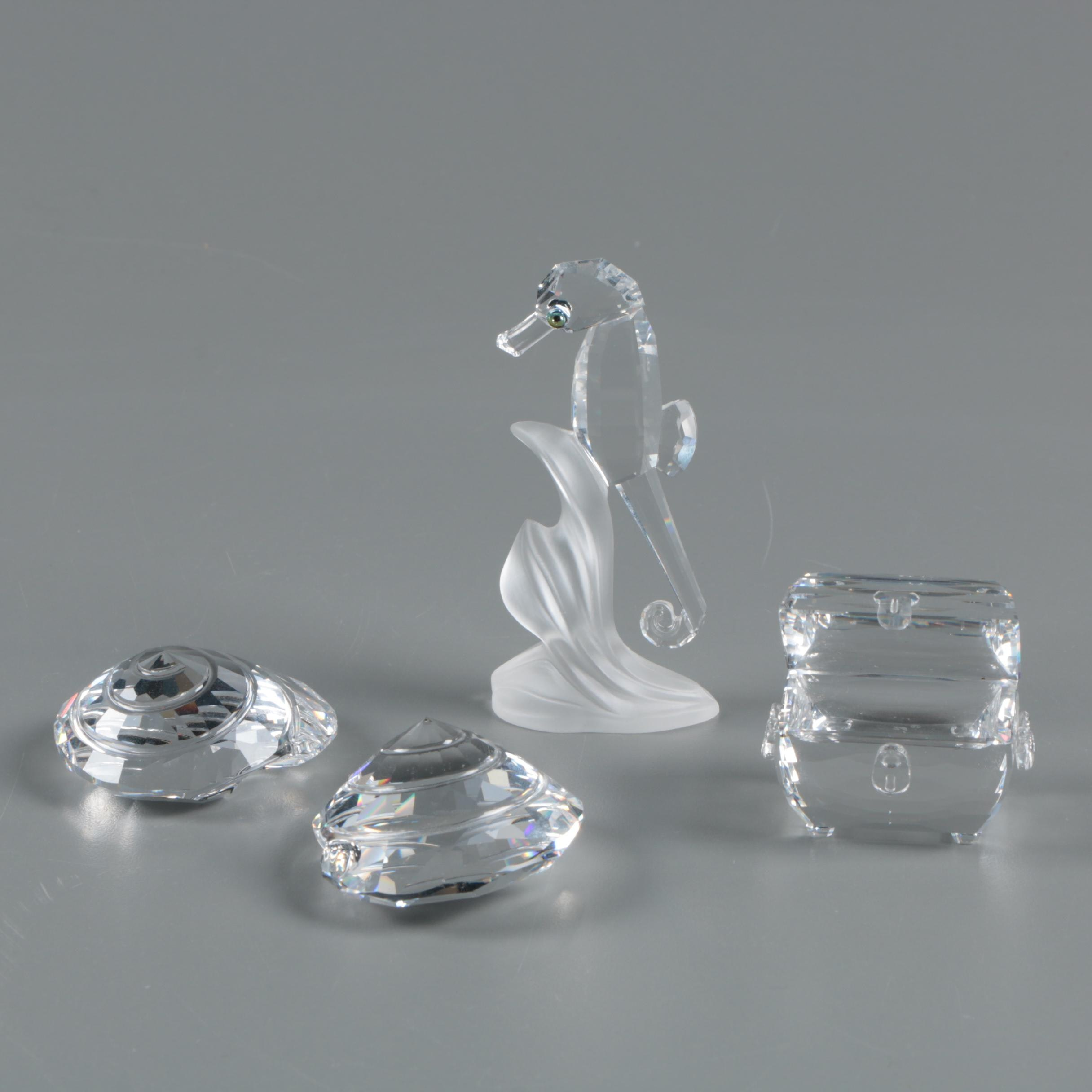 Swarovski Sea Themed Crystal Figurines