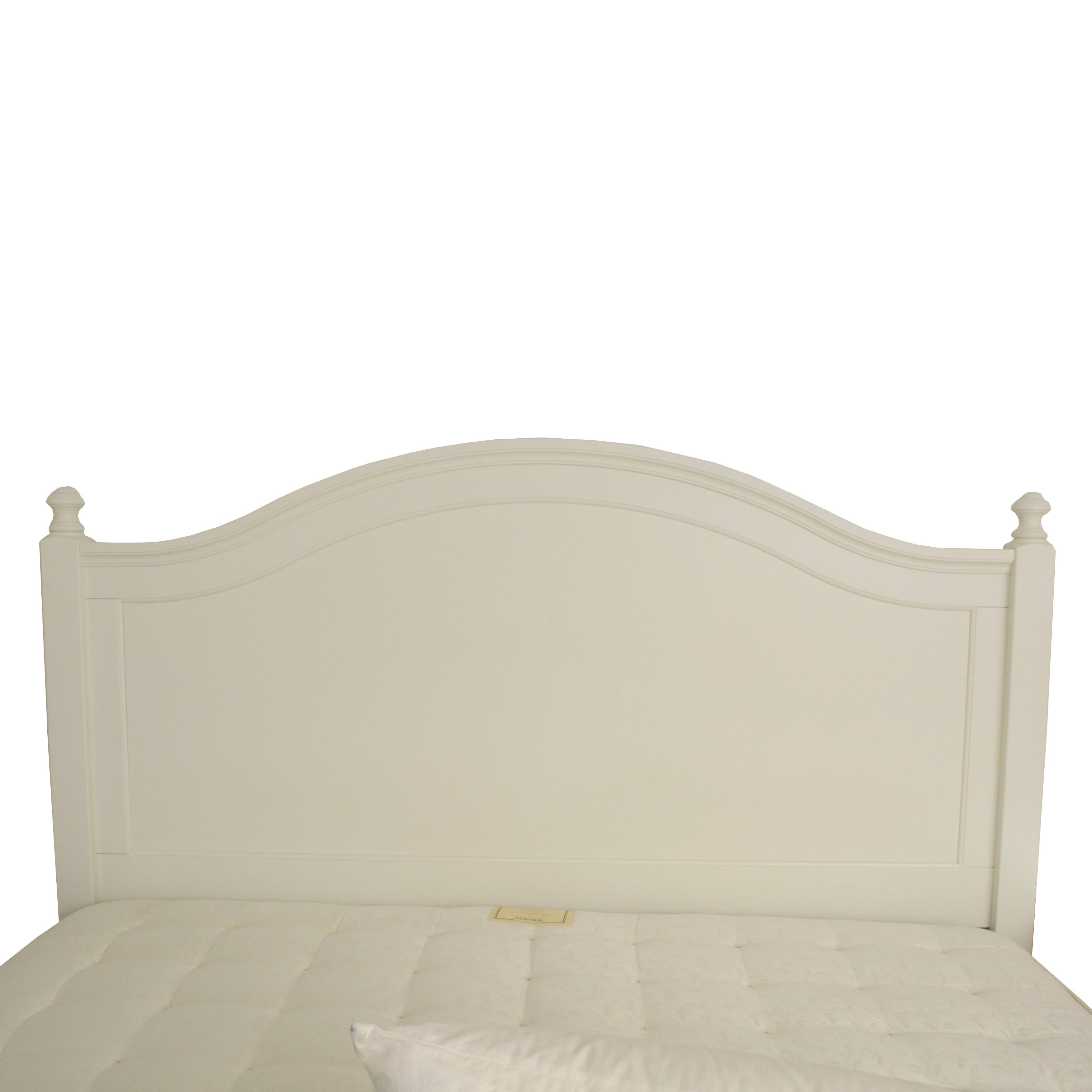 Contemporary White Painted Queen Size Headboard