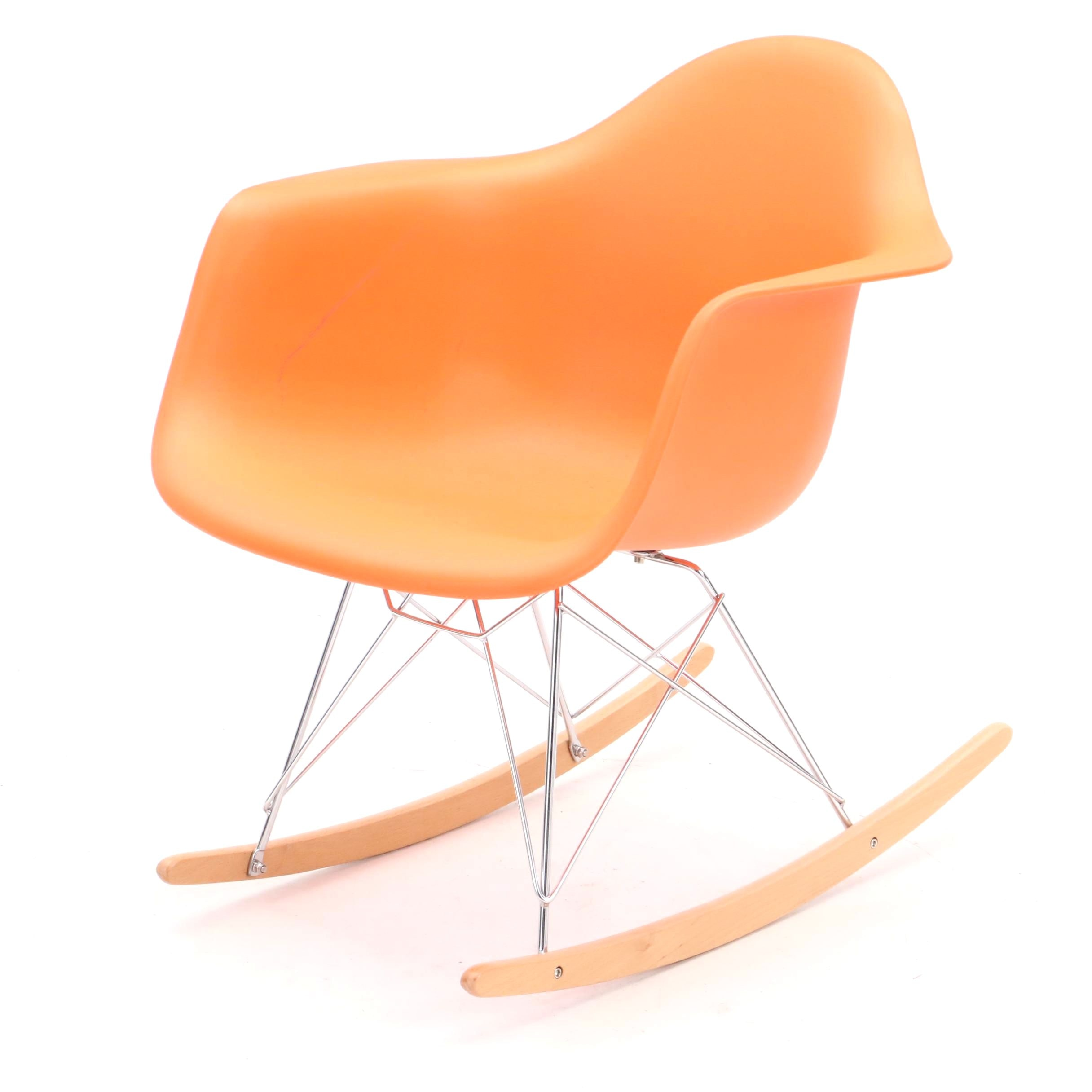 Contemporary Eames Style Rocking Chair ...