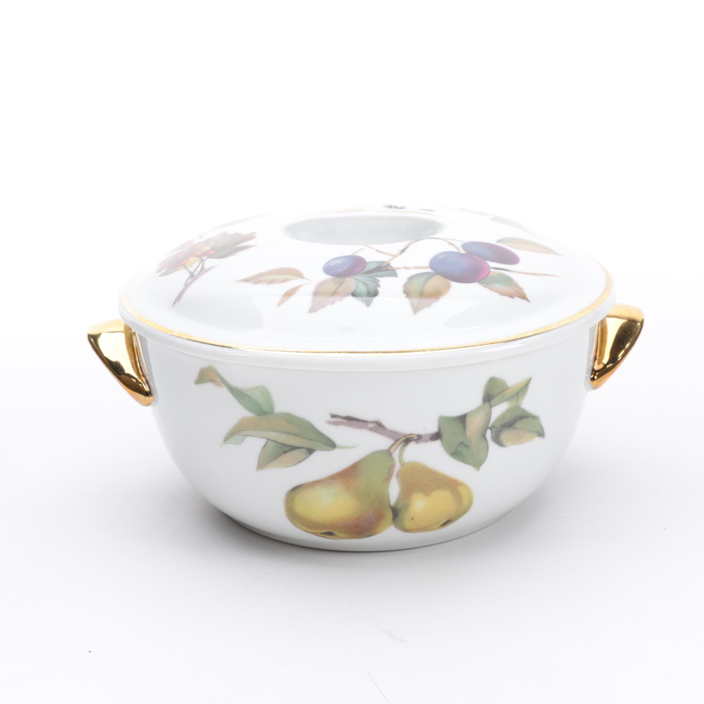 """Royal Worcester """"Evesham Gold"""" Porcelain Casserole Dish"""