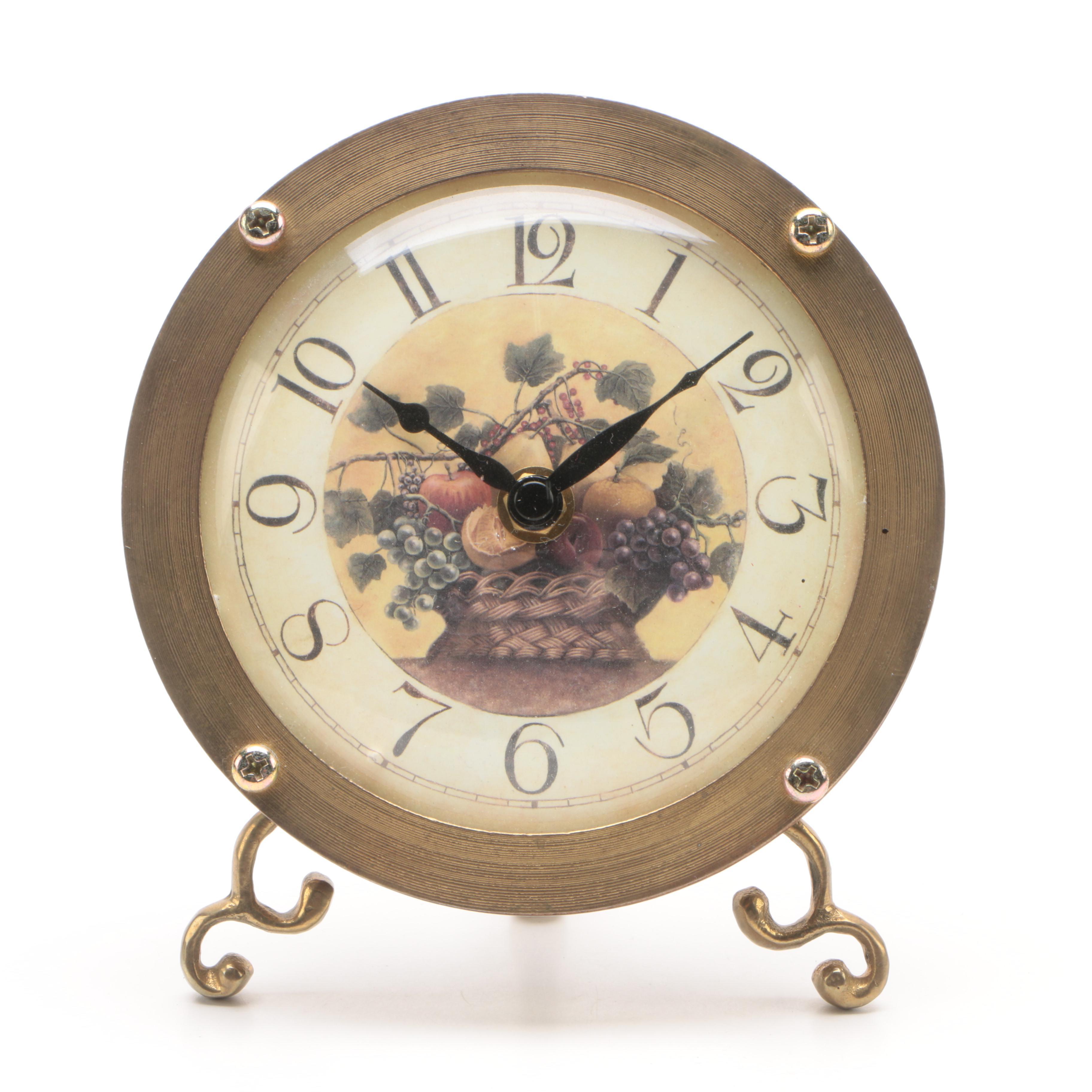 decorative desk clocks agate still life offset lithograph decorative desk clock ebth