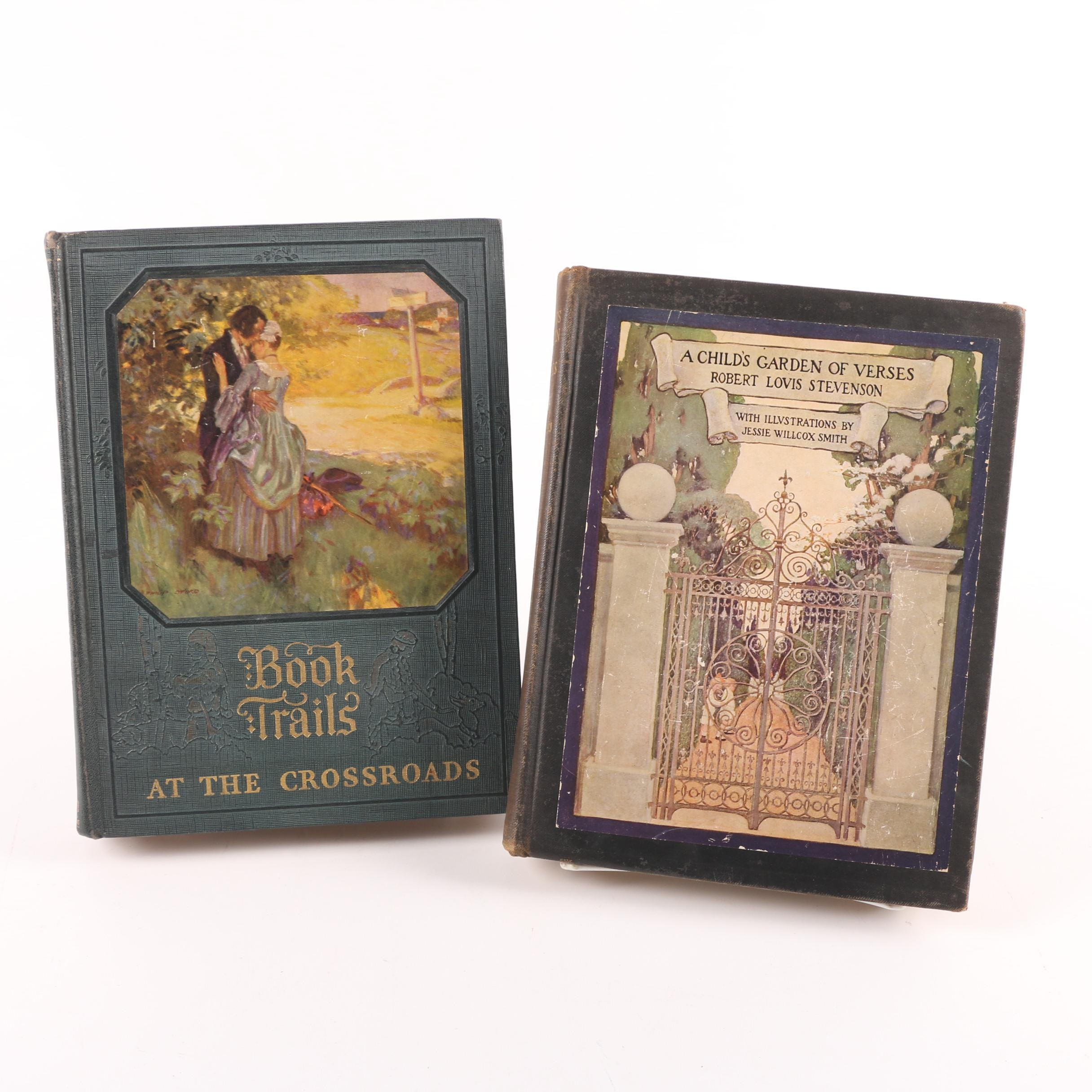 """1905 """"A Child's Garden of Verses"""" and 1928 """"Book Trails: At the Crossroads"""""""