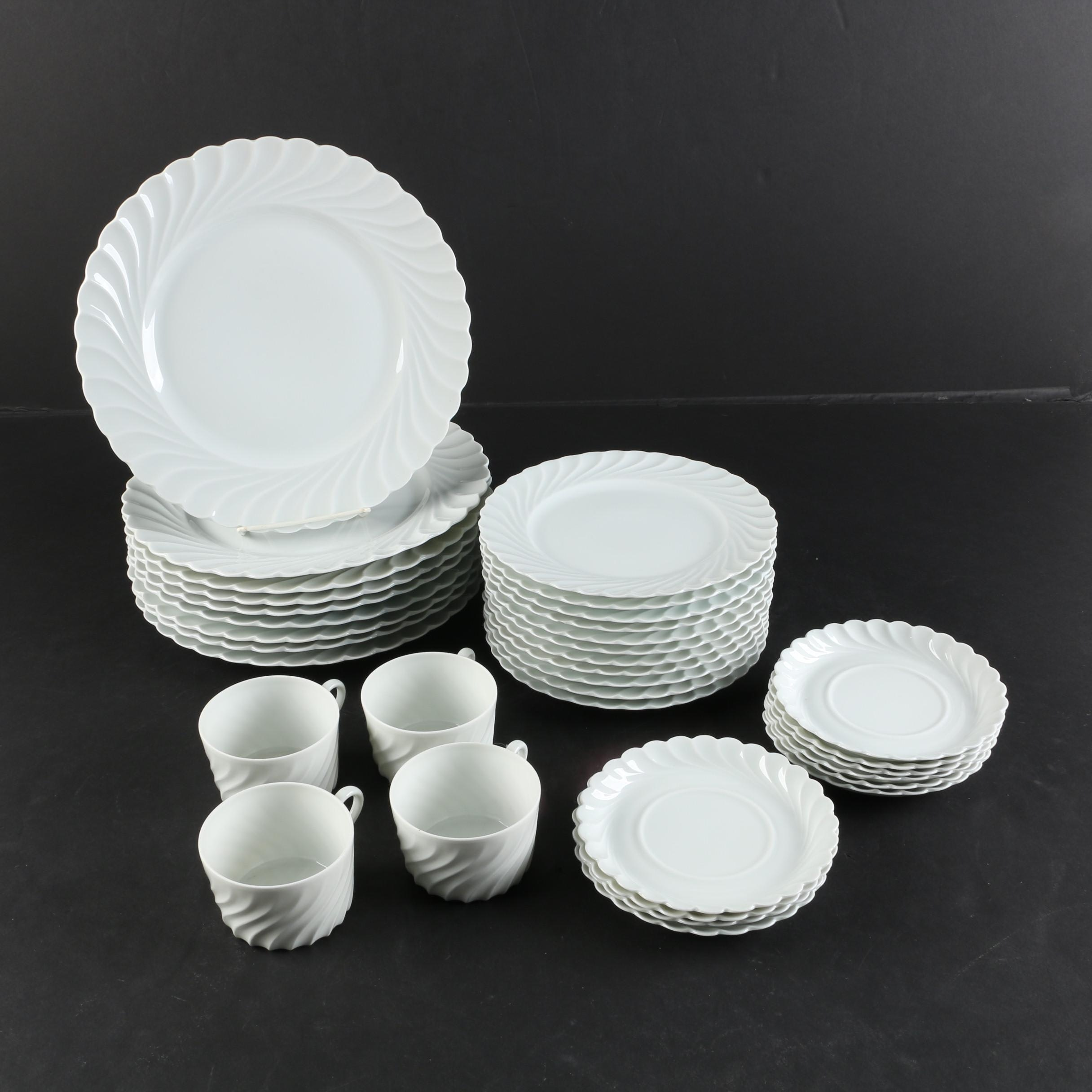 "Haviland Limoges ""Torse White"" Porcelain Dinnerware c. 1962"
