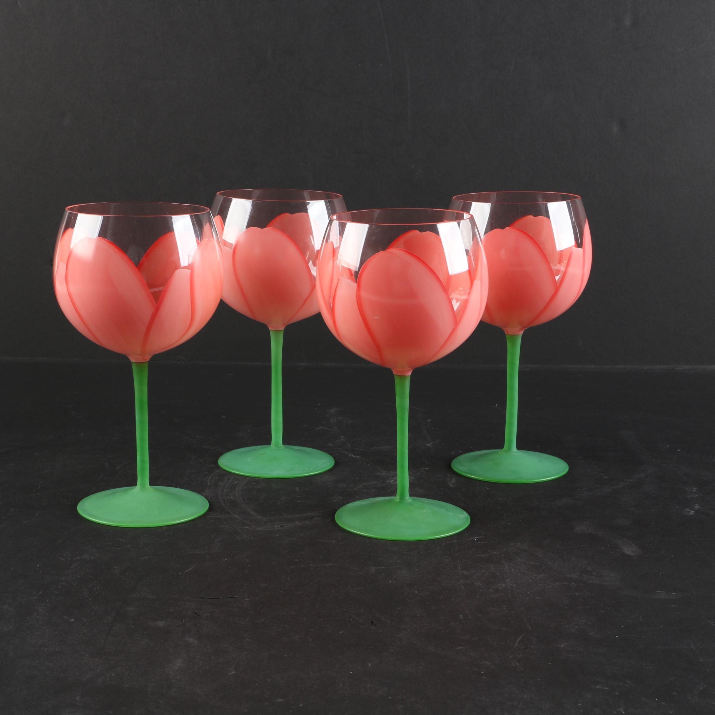 "Gloria Vanderbilt for Sigma ""Sincerely Yours"" Wine Glasses"
