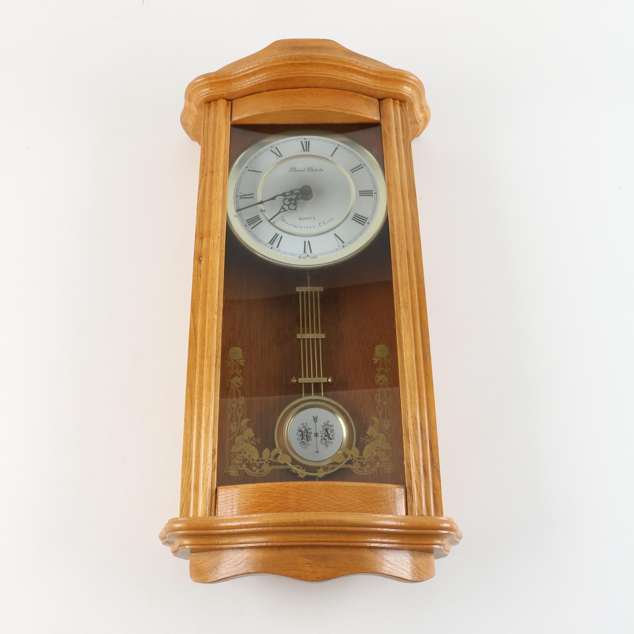 Daniel Dakota Westminster Chime Wall Clock