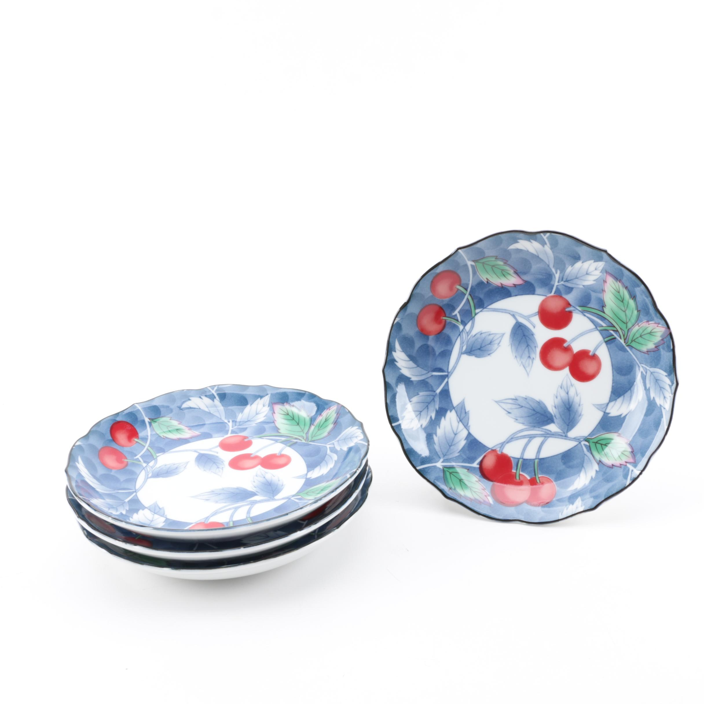 Williams-Sonoma Cherry Themed Salad Plates