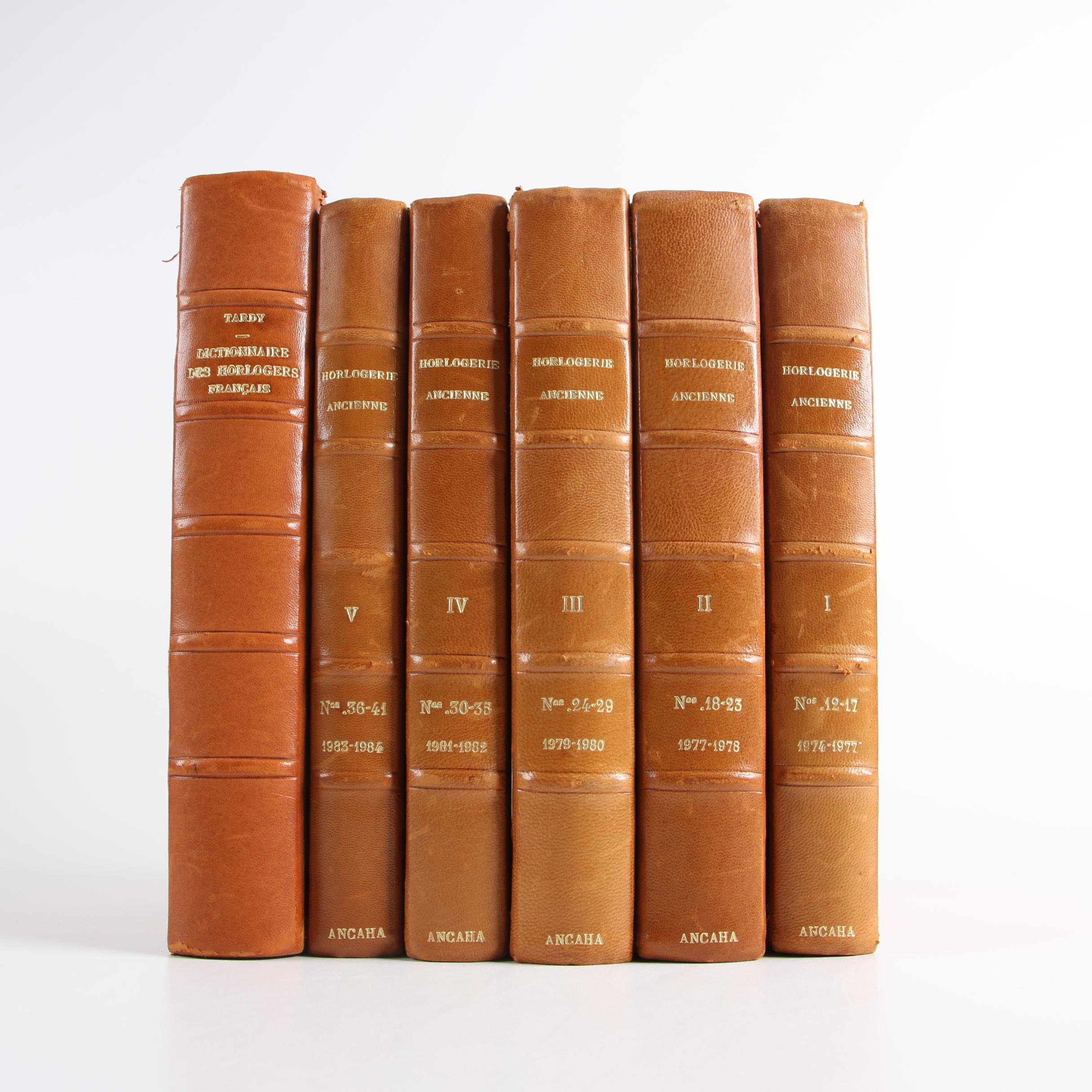 """1970s """"Horlogerie Ancienne"""" and """"Dictionnaire Des Horlogers Français"""""""