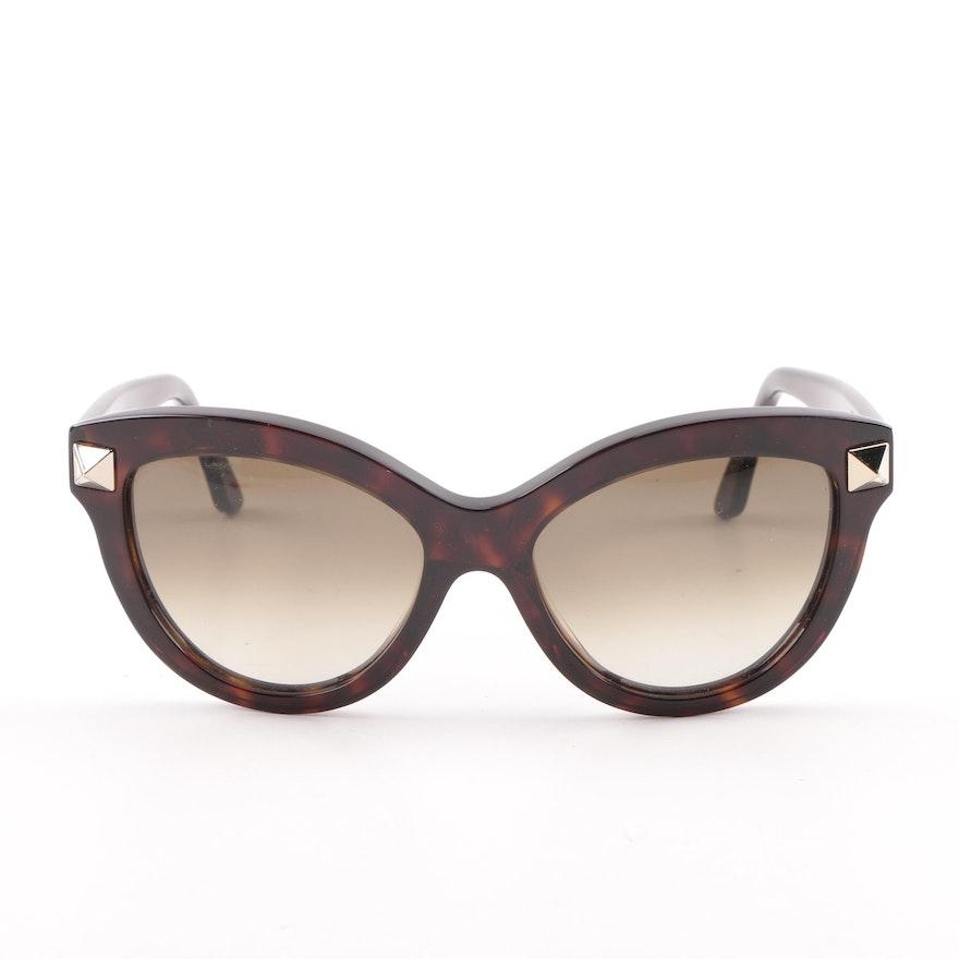 Valentino V695S Tortoiseshell Style Cat Eye Sunglasses
