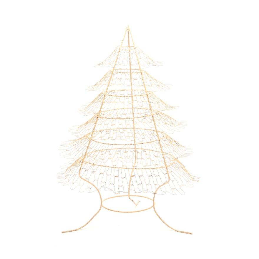 Vintage Metal Wire Christmas Tree Ebth