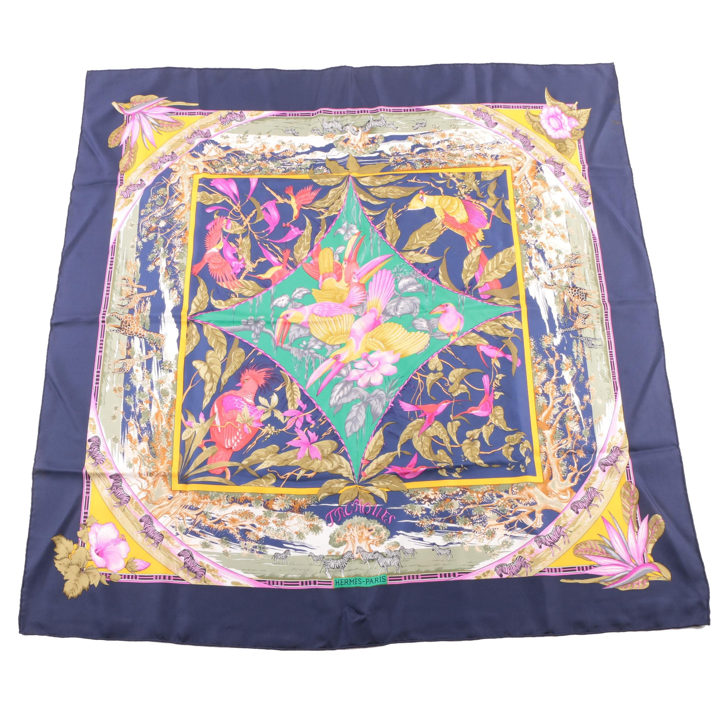 "Hermès of Paris ""Tropiques"" Silk Twill Scarf"