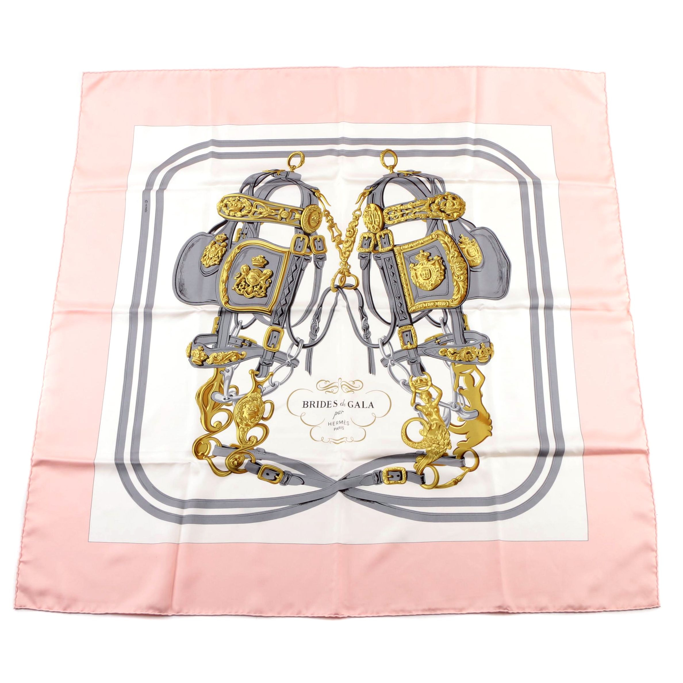 "Hermès of Paris ""Brides de Gala"" Silk Twill Scarf"