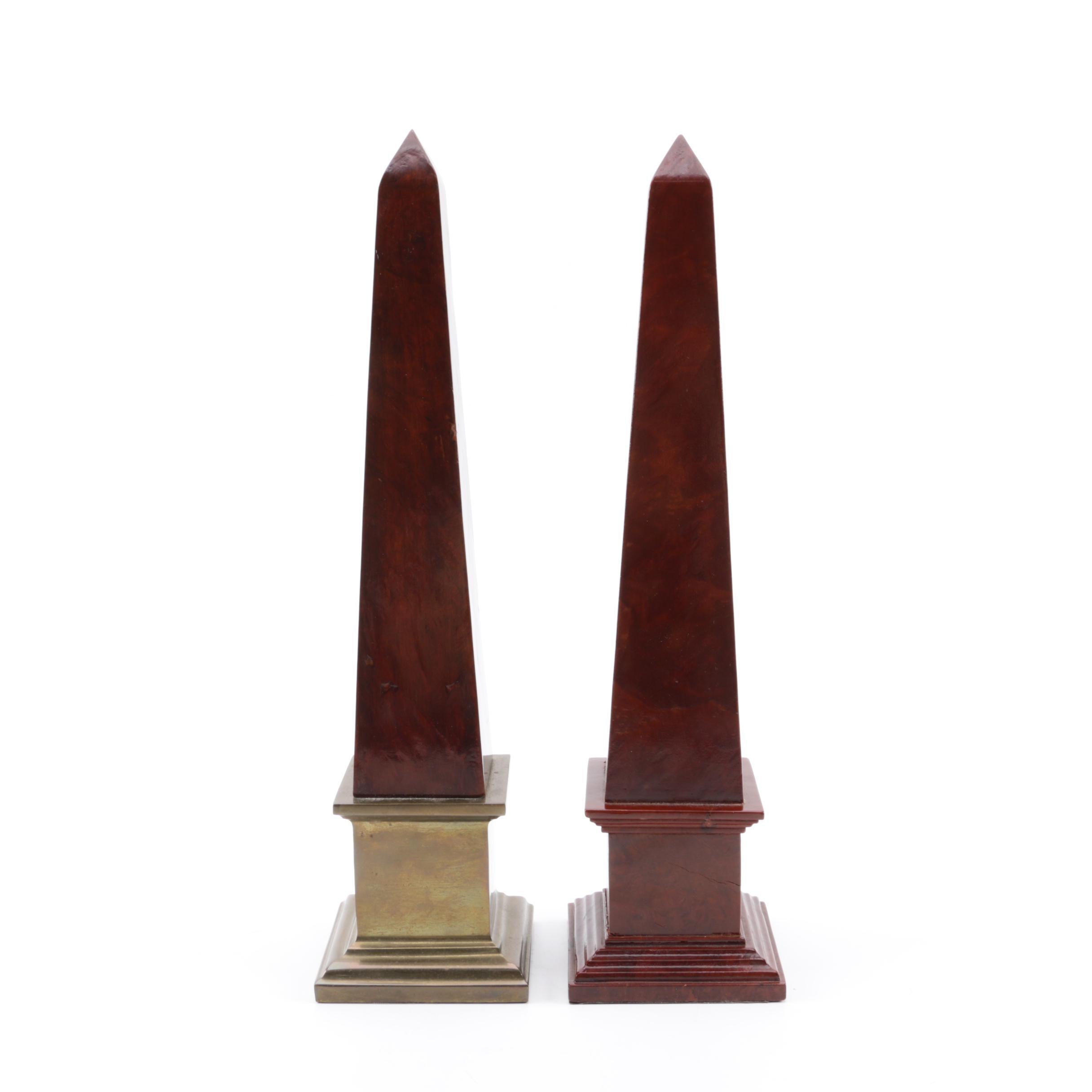Obelisk Bookends