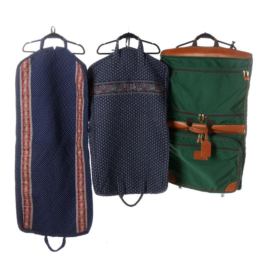 L Bean And Vera Bradley Garment Bags