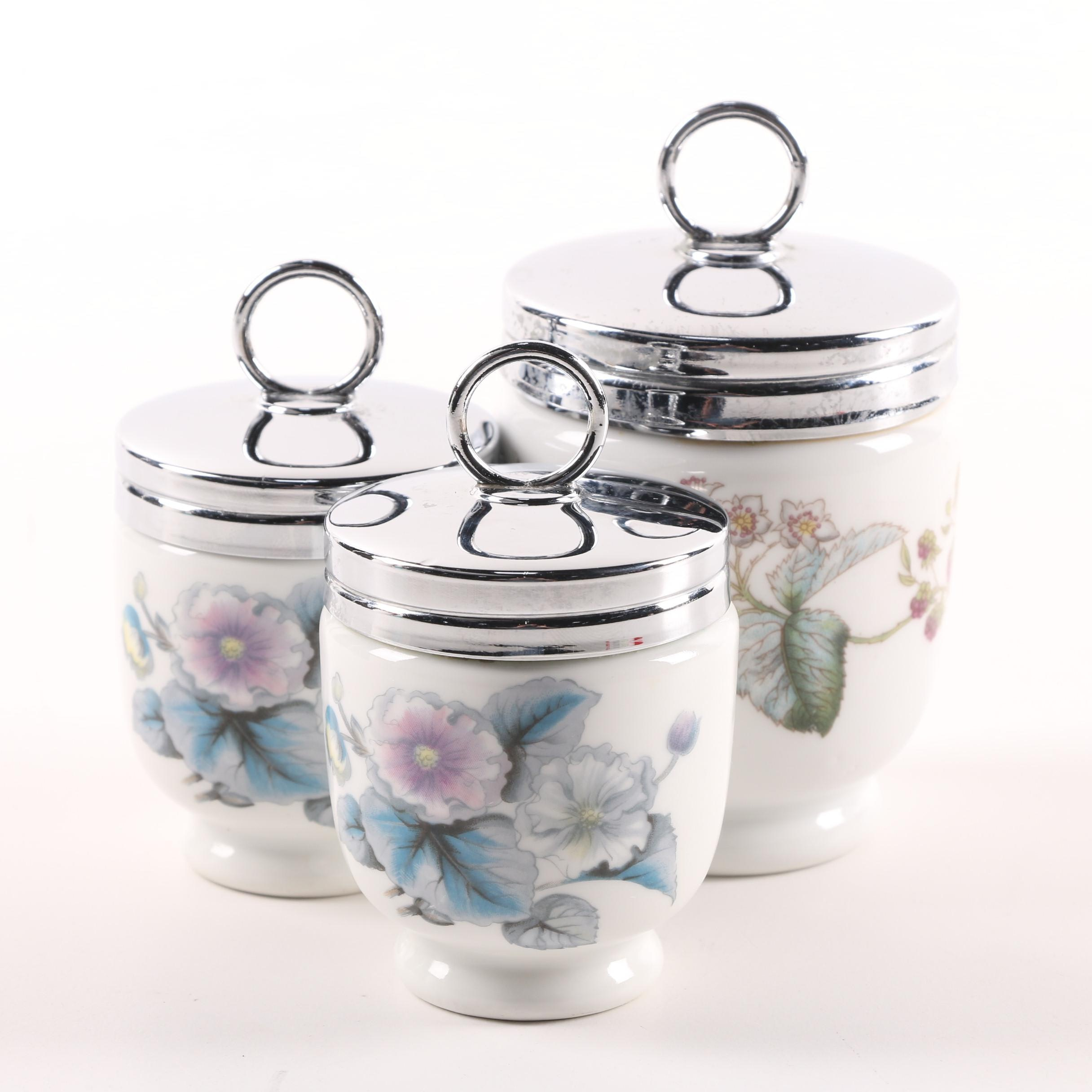 "Royal Worcester ""Woodland"" Porcelain Egg Coddlers"