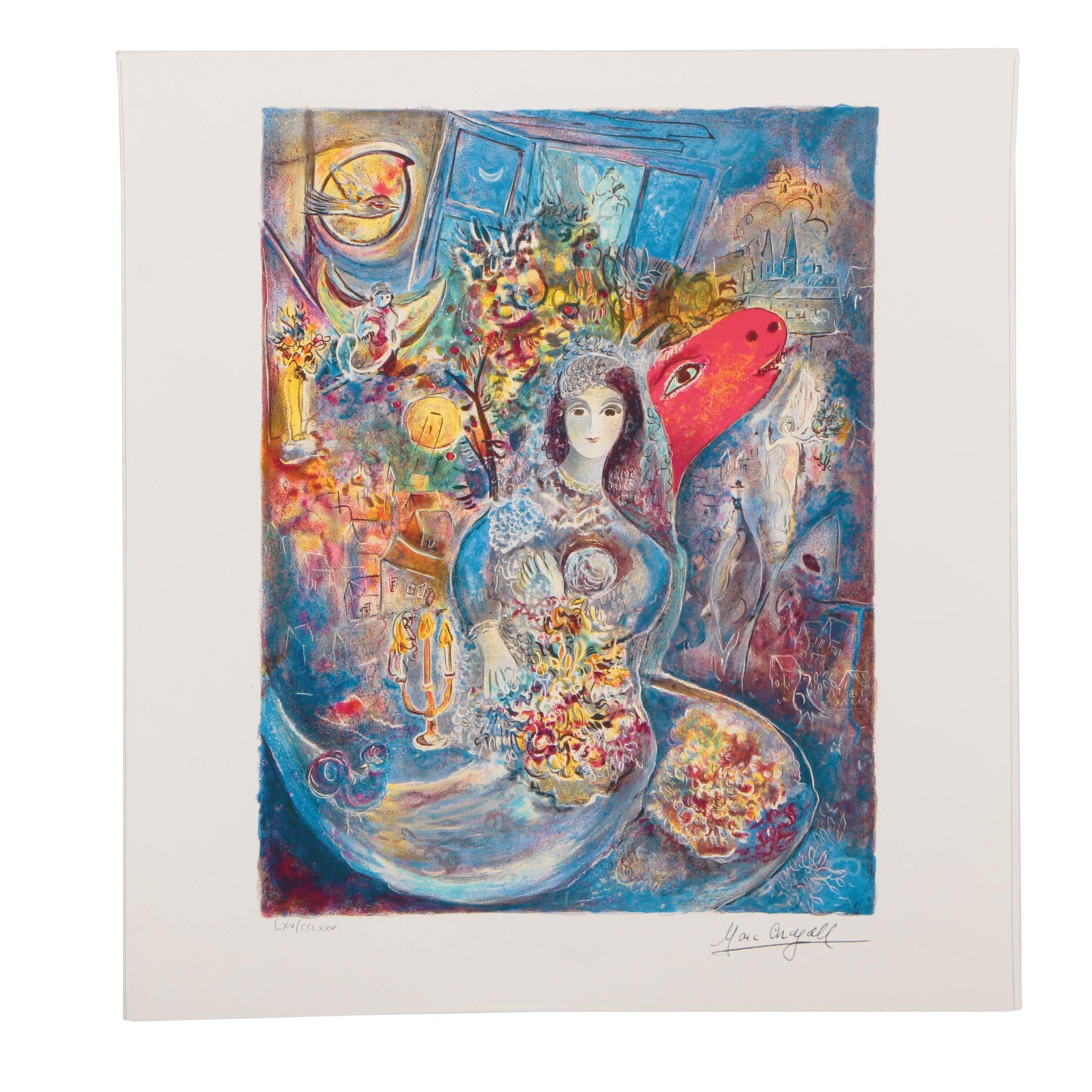"""Giclée after Marc Chagall """"Bella"""""""