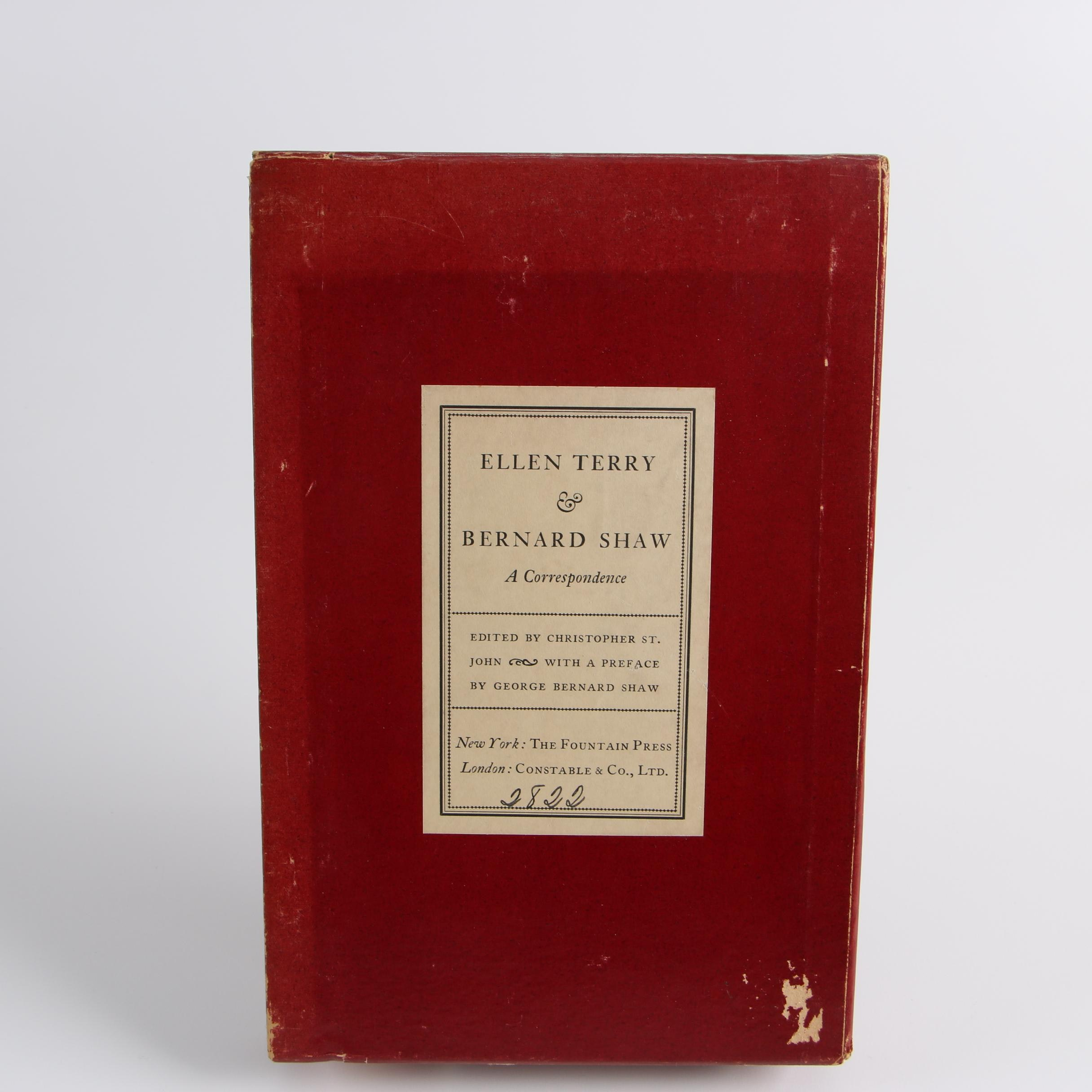 "1931 Limited Edition ""Ellen Terry and Bernard Shaw: A Correspondence"""