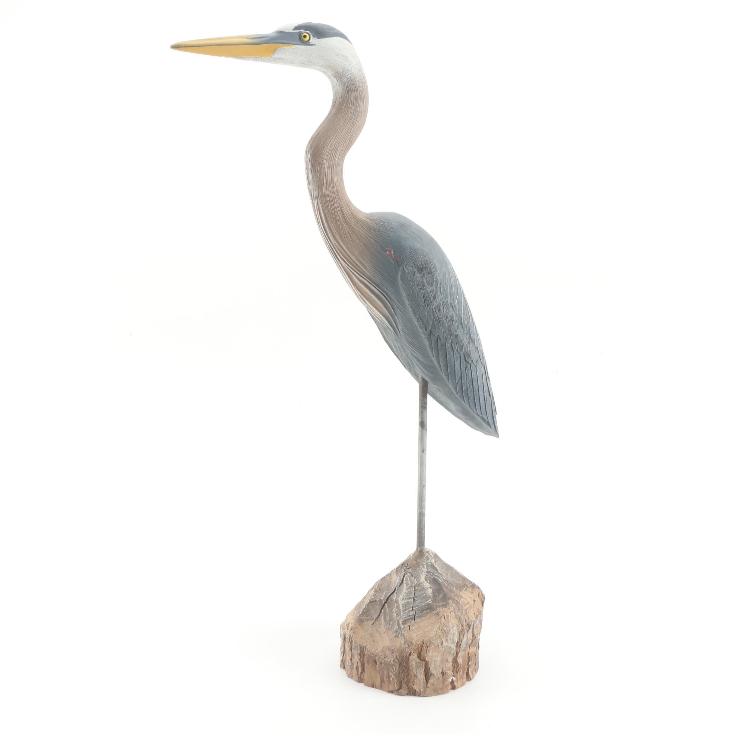 Heron Bird Figurine by Fred Heeren