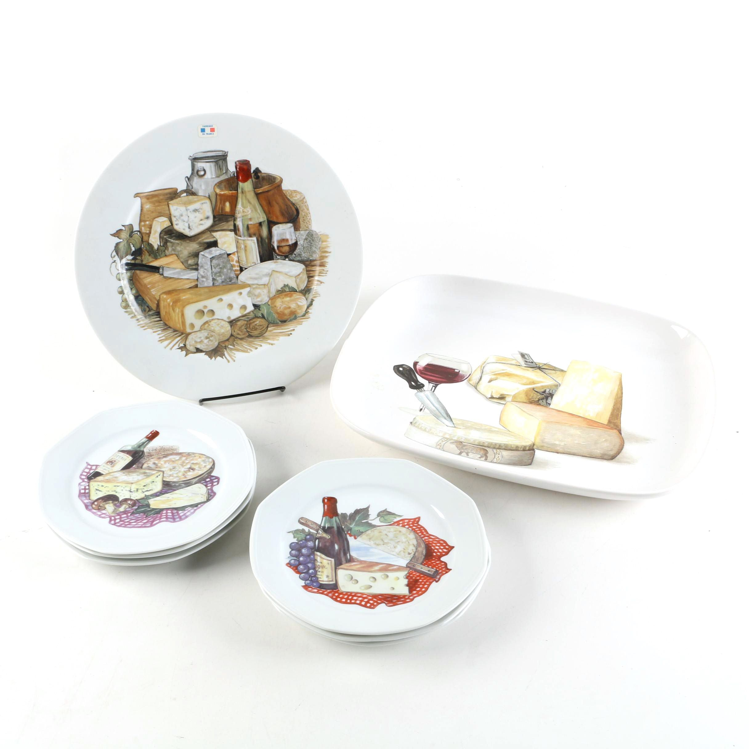 Limoges and Ceramisia Wine and Cheese Plates and Platters