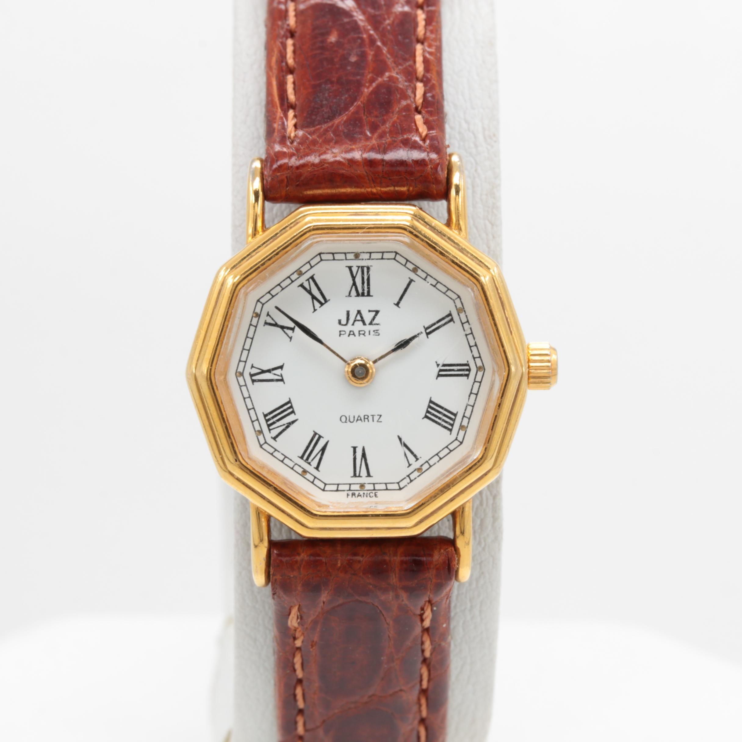 JAZ Gold Tone Quartz Wristwatch