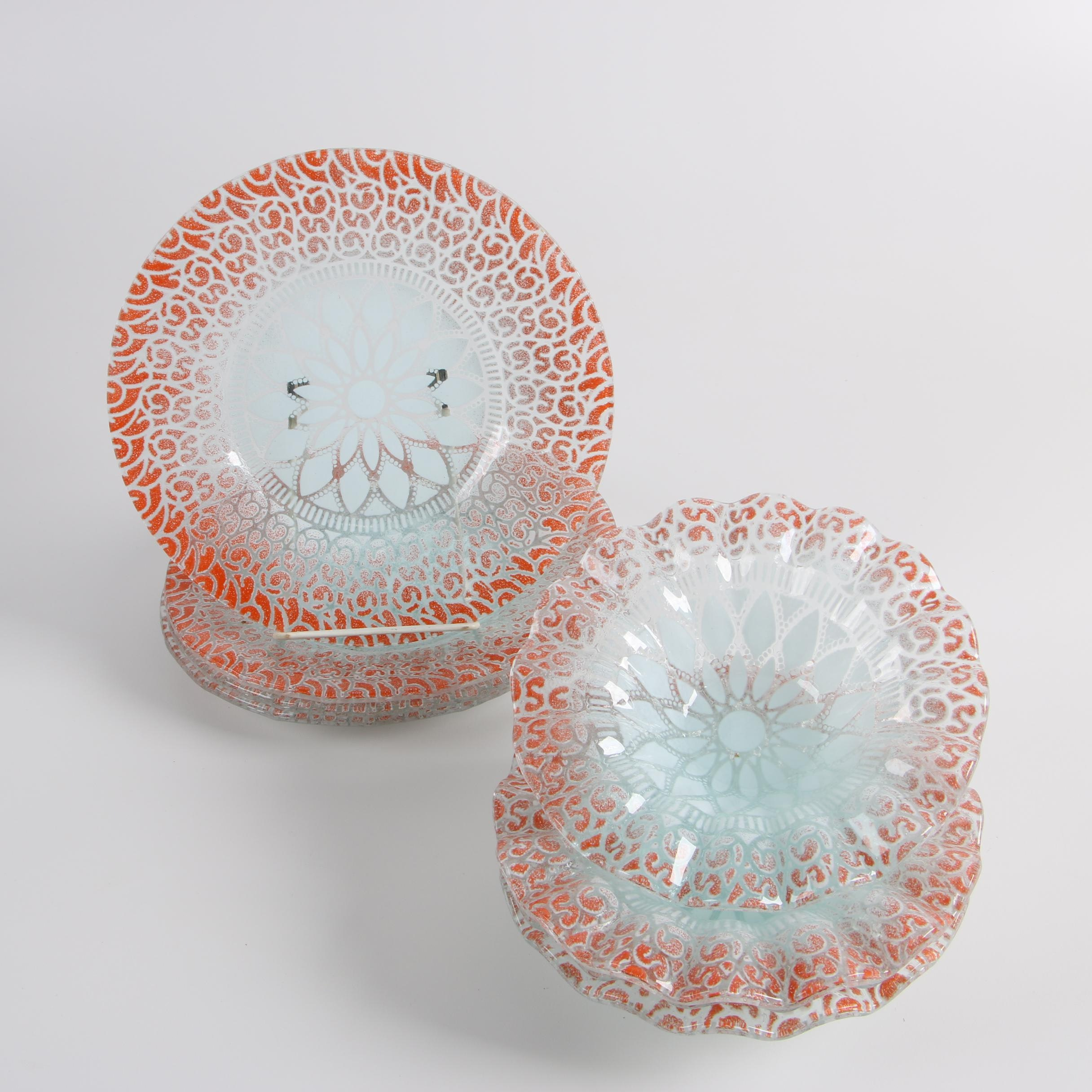 Italian Blown Glass Plates and Bowls