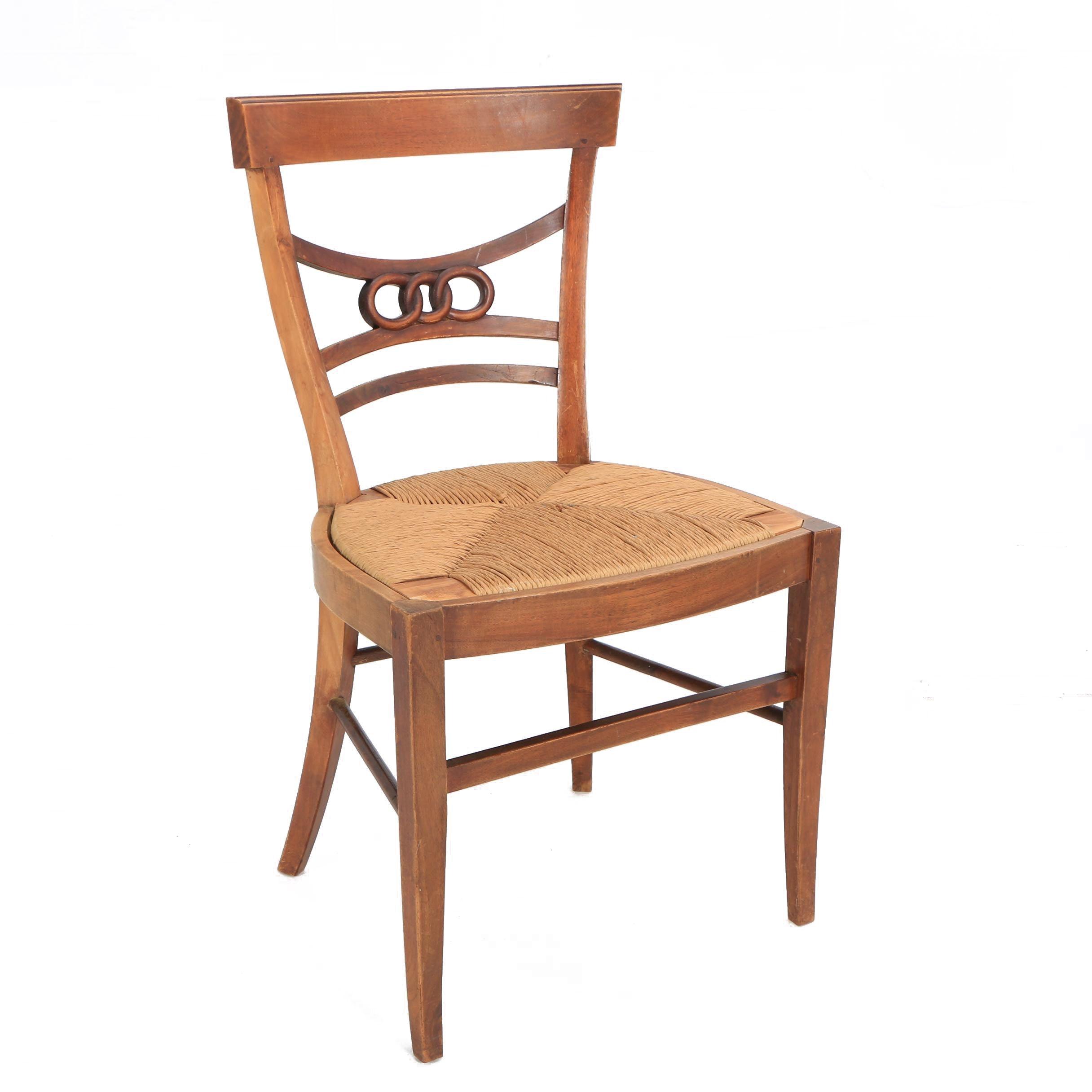 Antique Regency Style Oak Side Chair