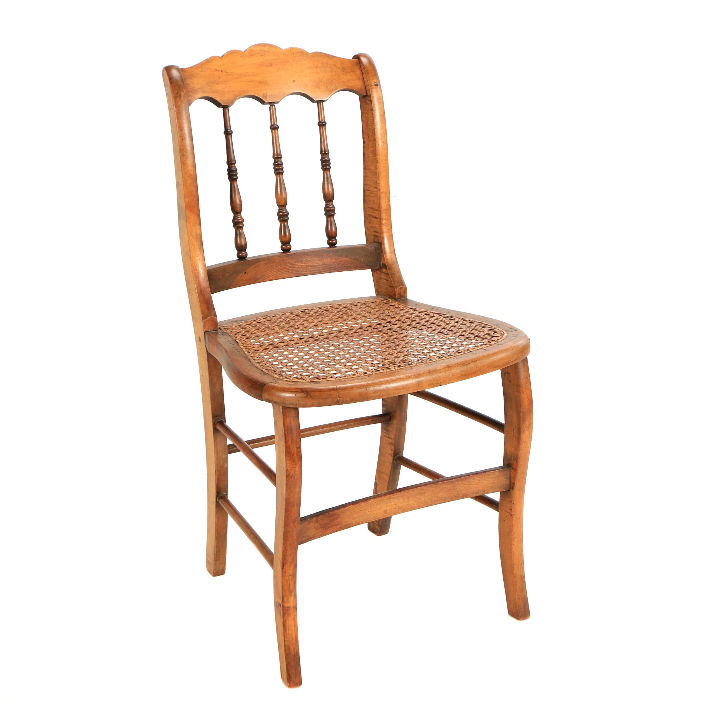 Late 19th Century Woven Cane Side Chair