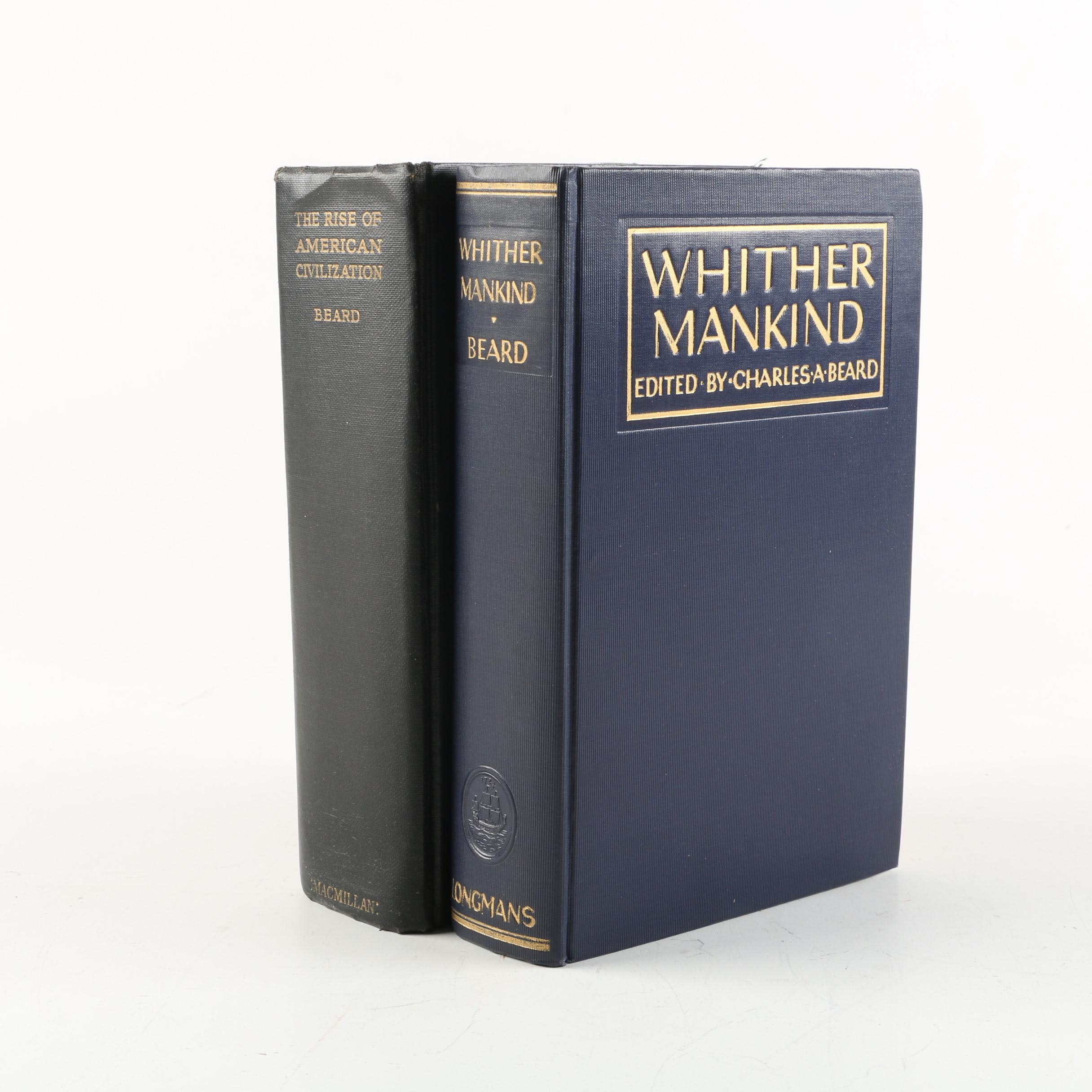 "Vintage ""Whither Mankind"" and ""The Rise of American Civilization"" Books"