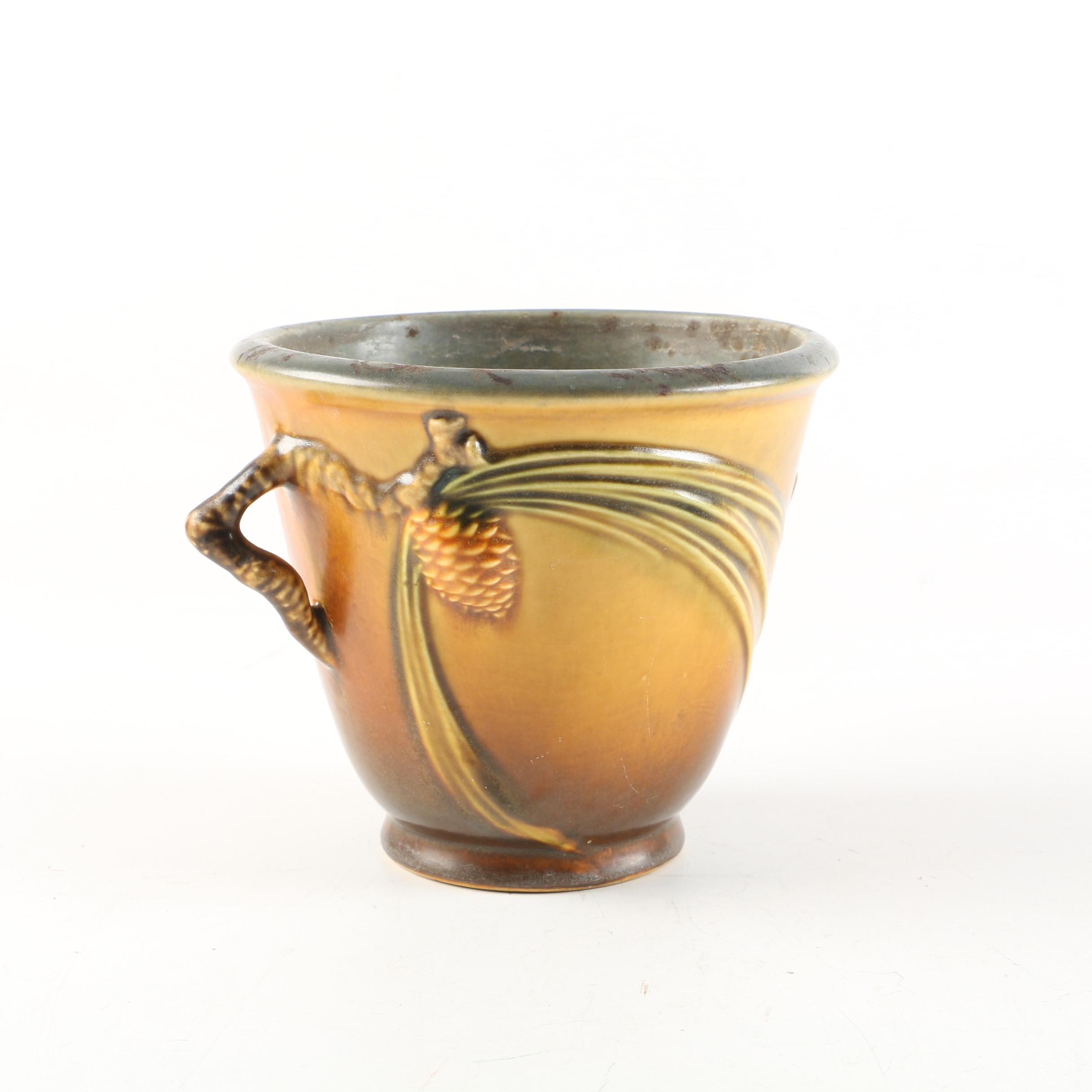 "Roseville Pottery ""Pine Cone"" Flower Pot"