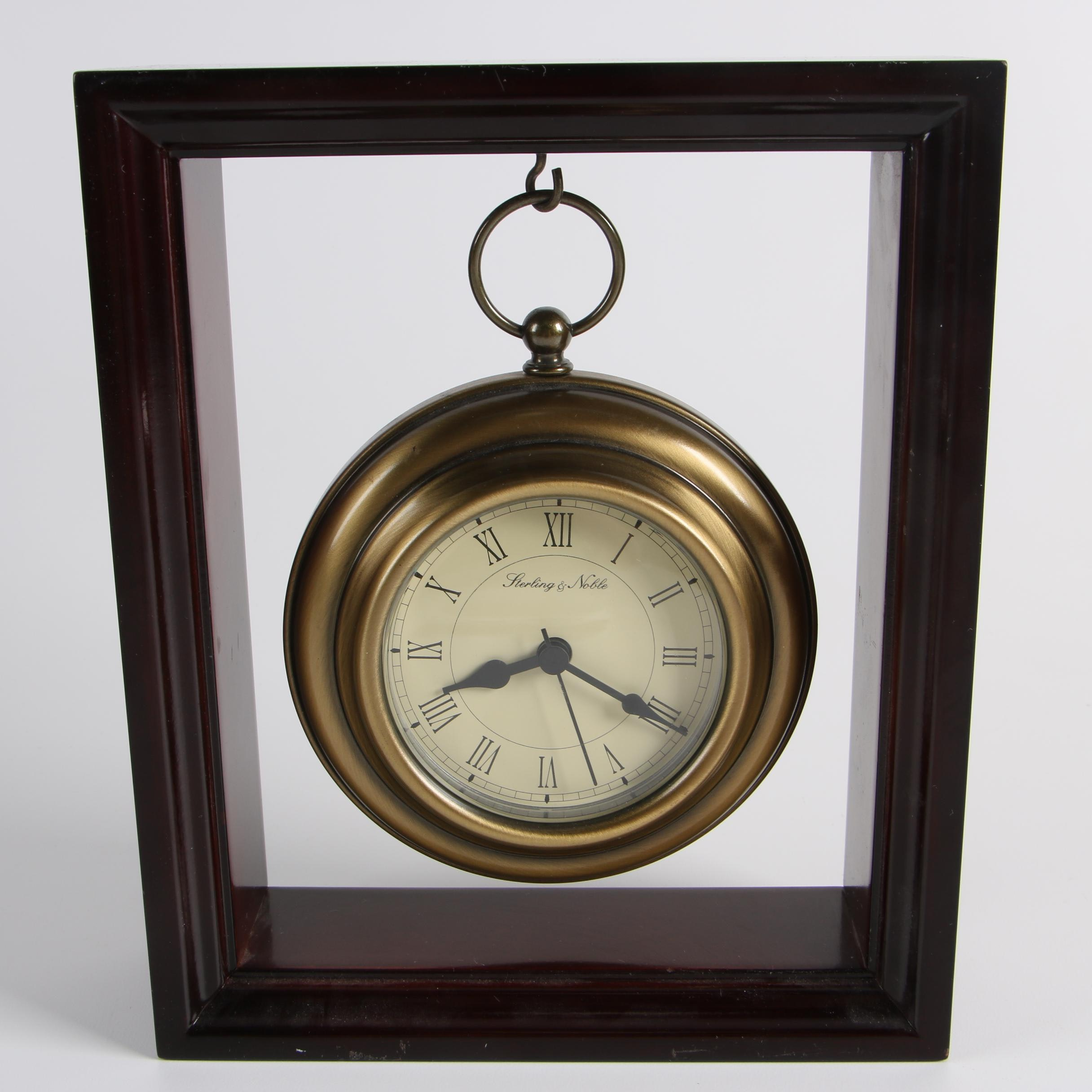 Contemporary Sterling & Noble Hanging Pocket Watch Style Desk Clock