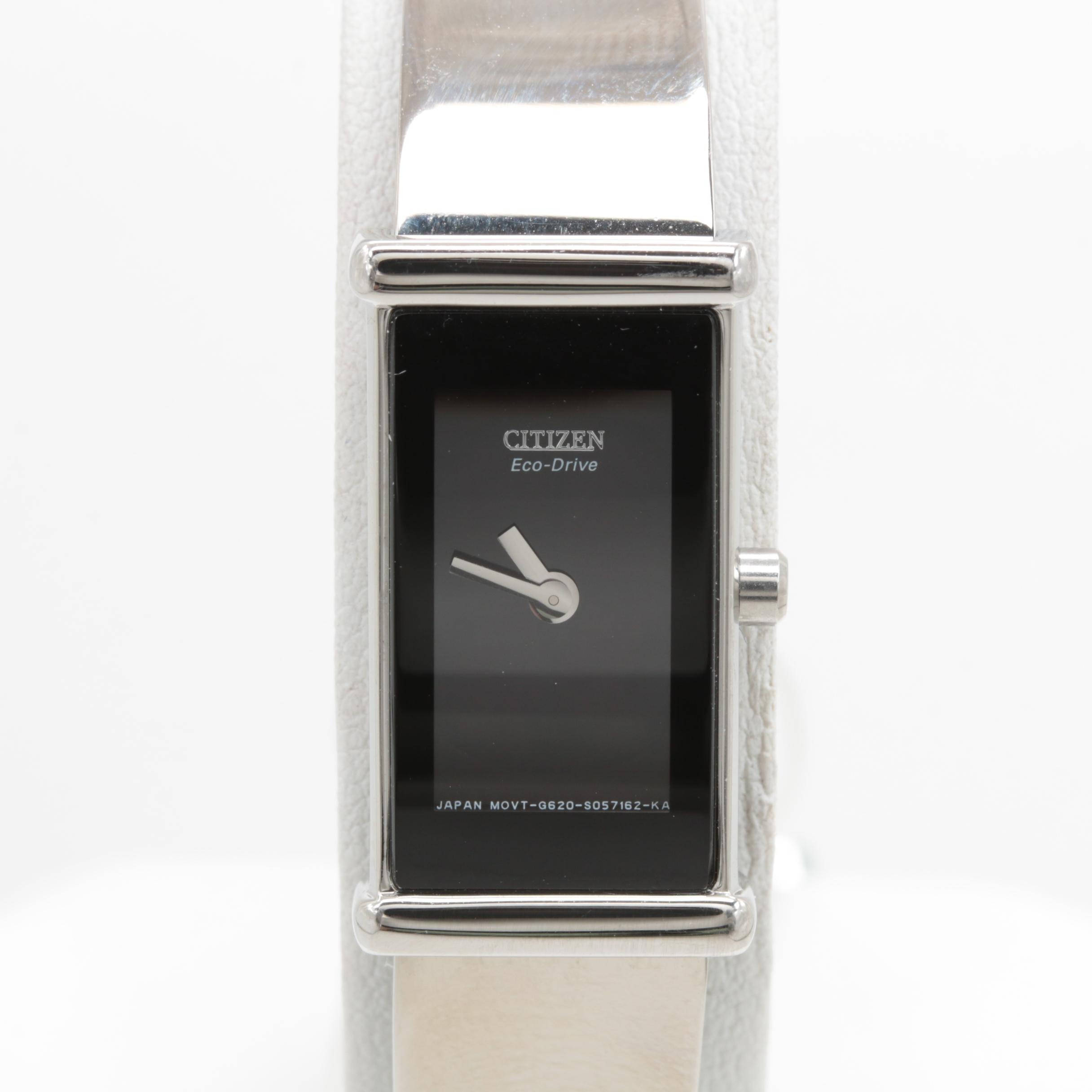 Citizen Stainless Steel Black Dial Wristwatch