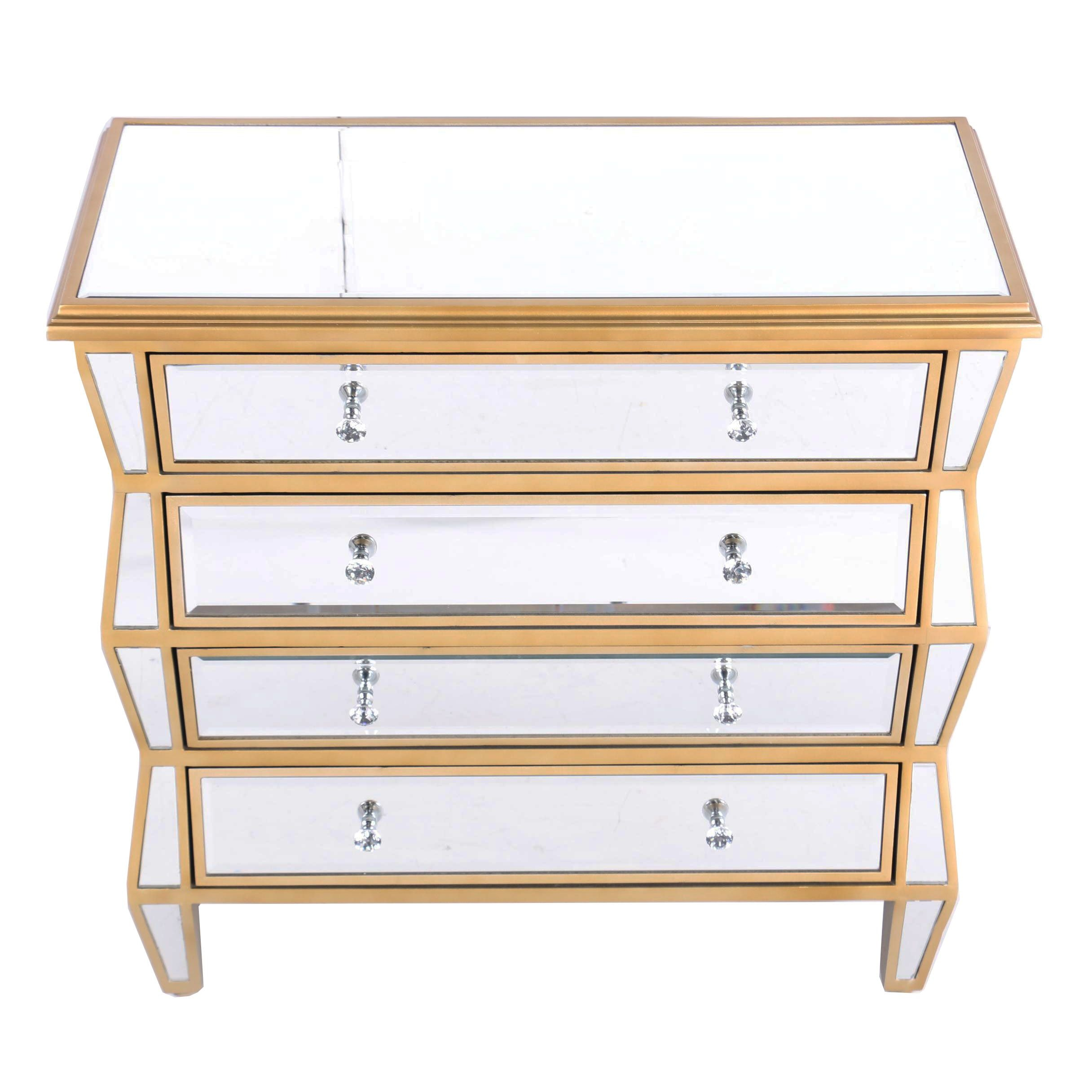 Pacific Coast Lighting Parcel-Gilt and Mirrored Chest of Drawers