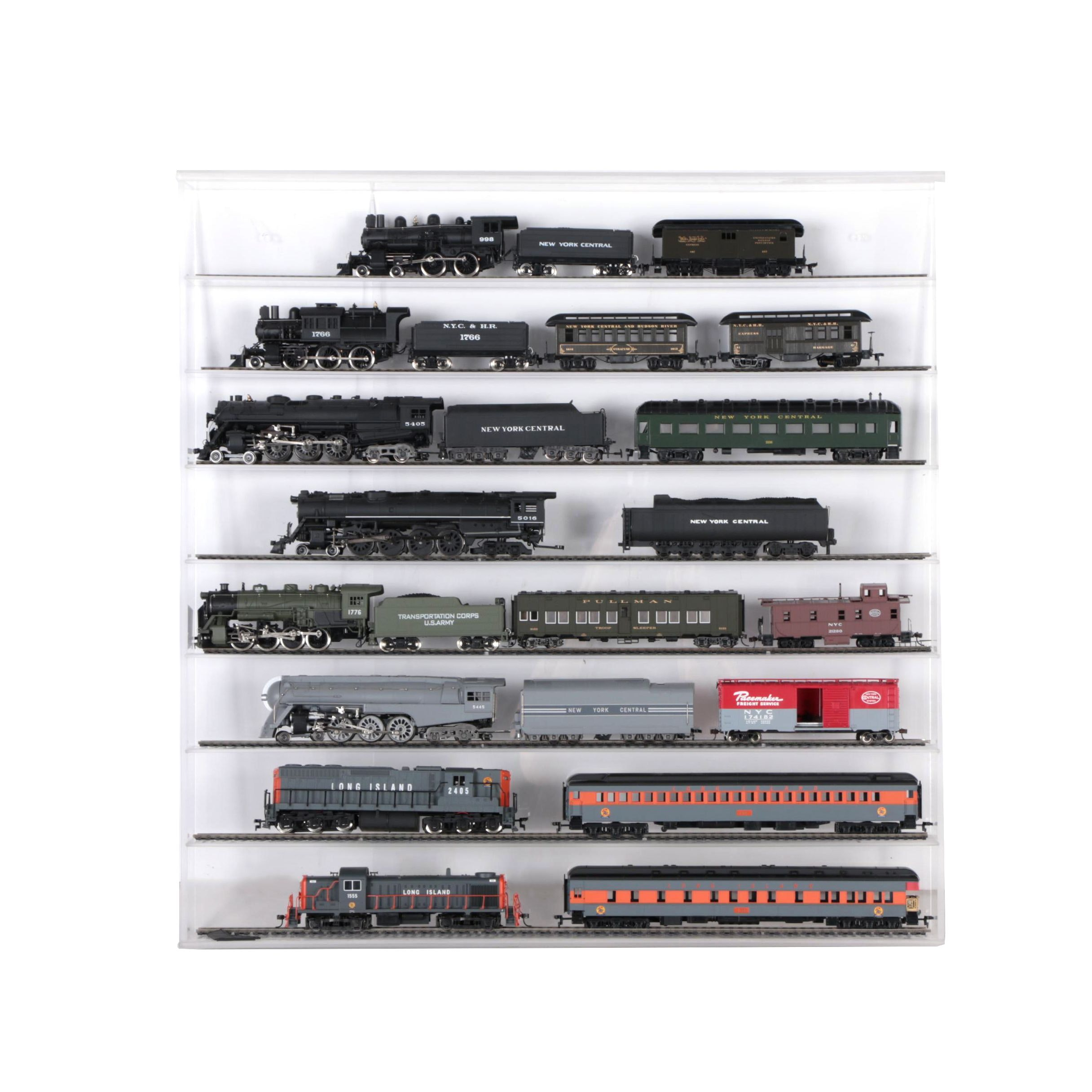 N Gauge Train Cars including New York Central and Long Island