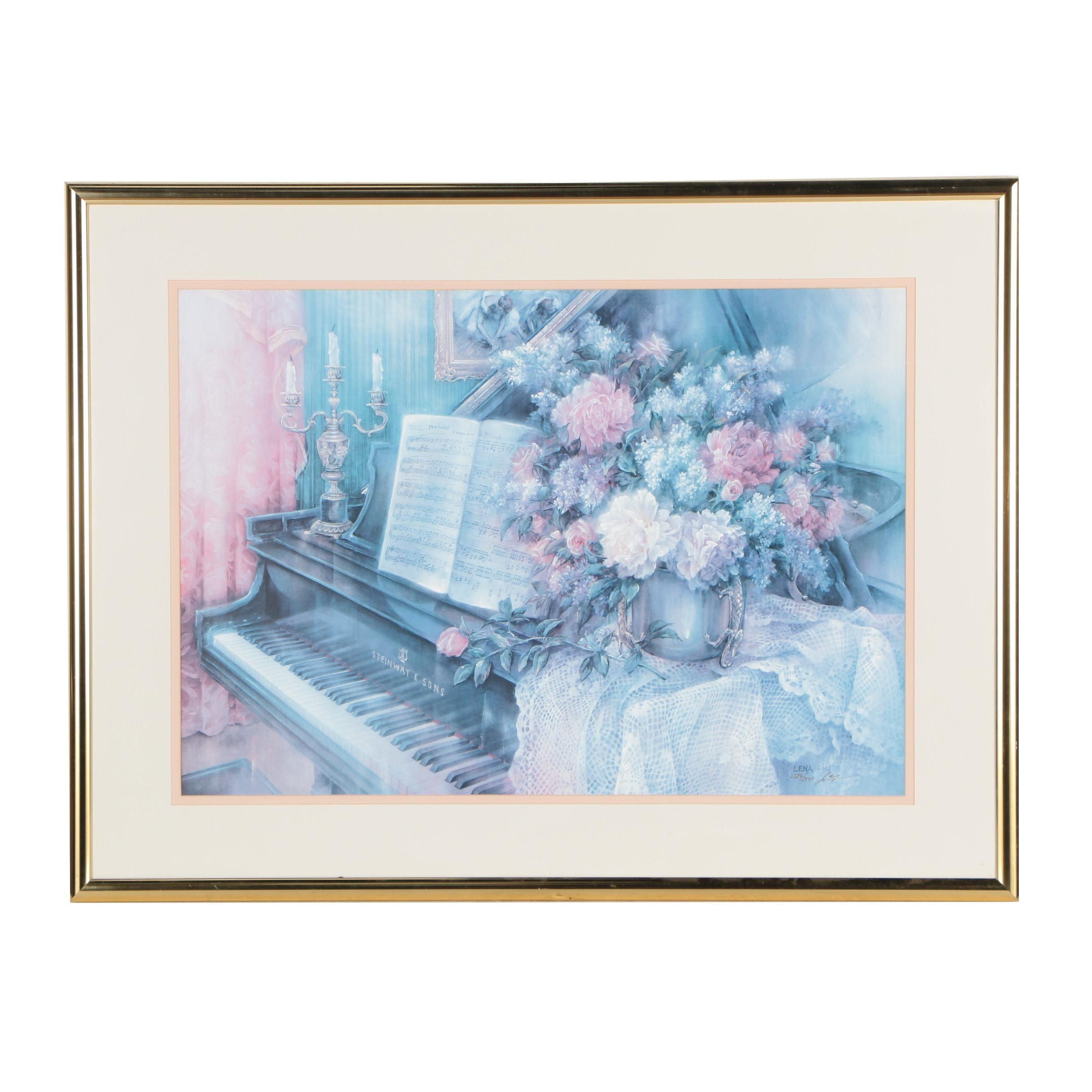 """Lena Liu Offset Lithograph """"Music Room"""""""