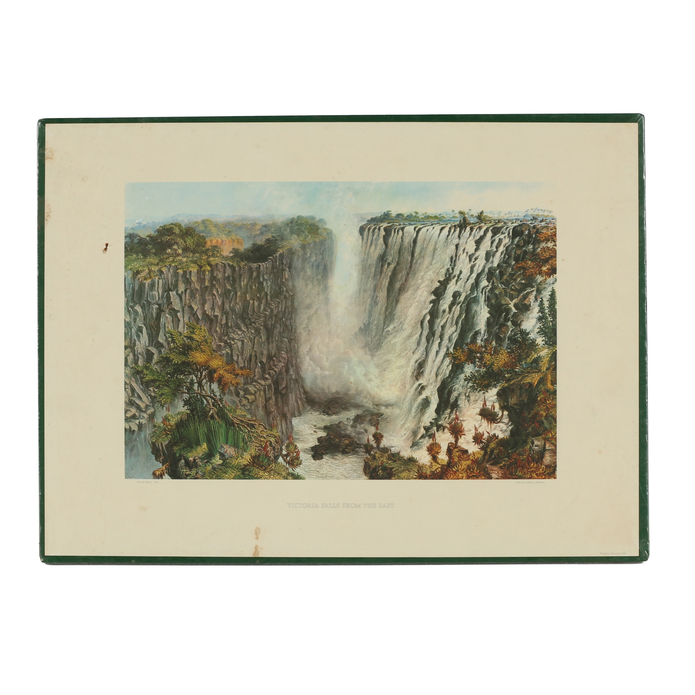 "Offset Lithograph After Thomas Baines ""Victoria Falls from the East"""
