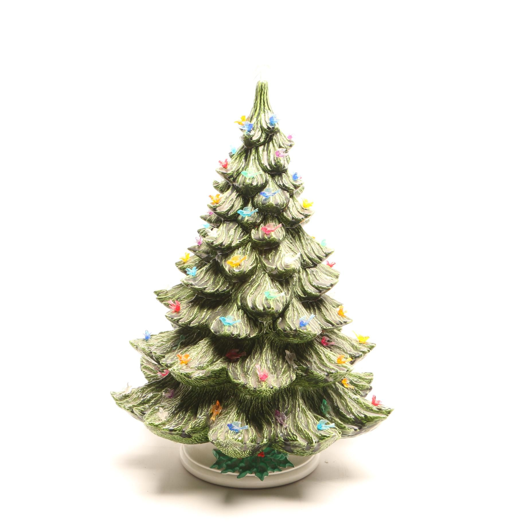 Vintage Ceramic Lighted Christmas Tree