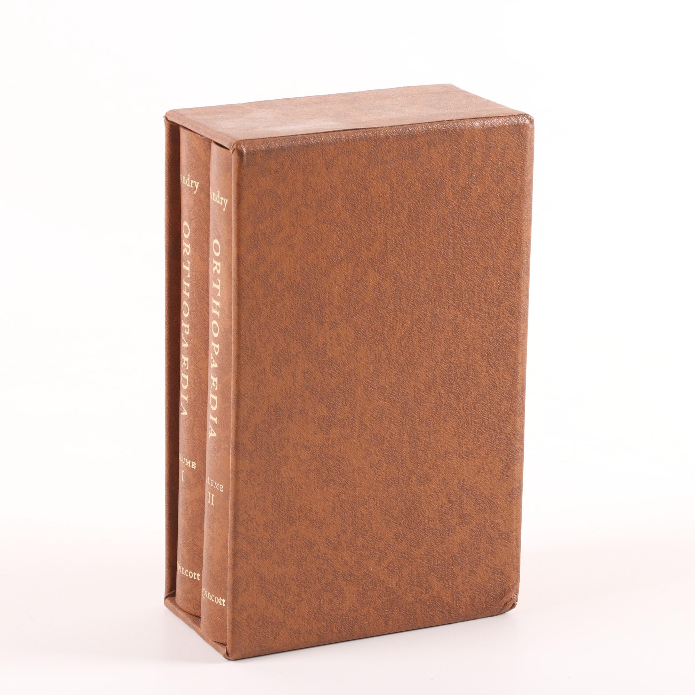 "1961 Facsimile Edition ""Orthopaedia"" by Nicolas Andry"