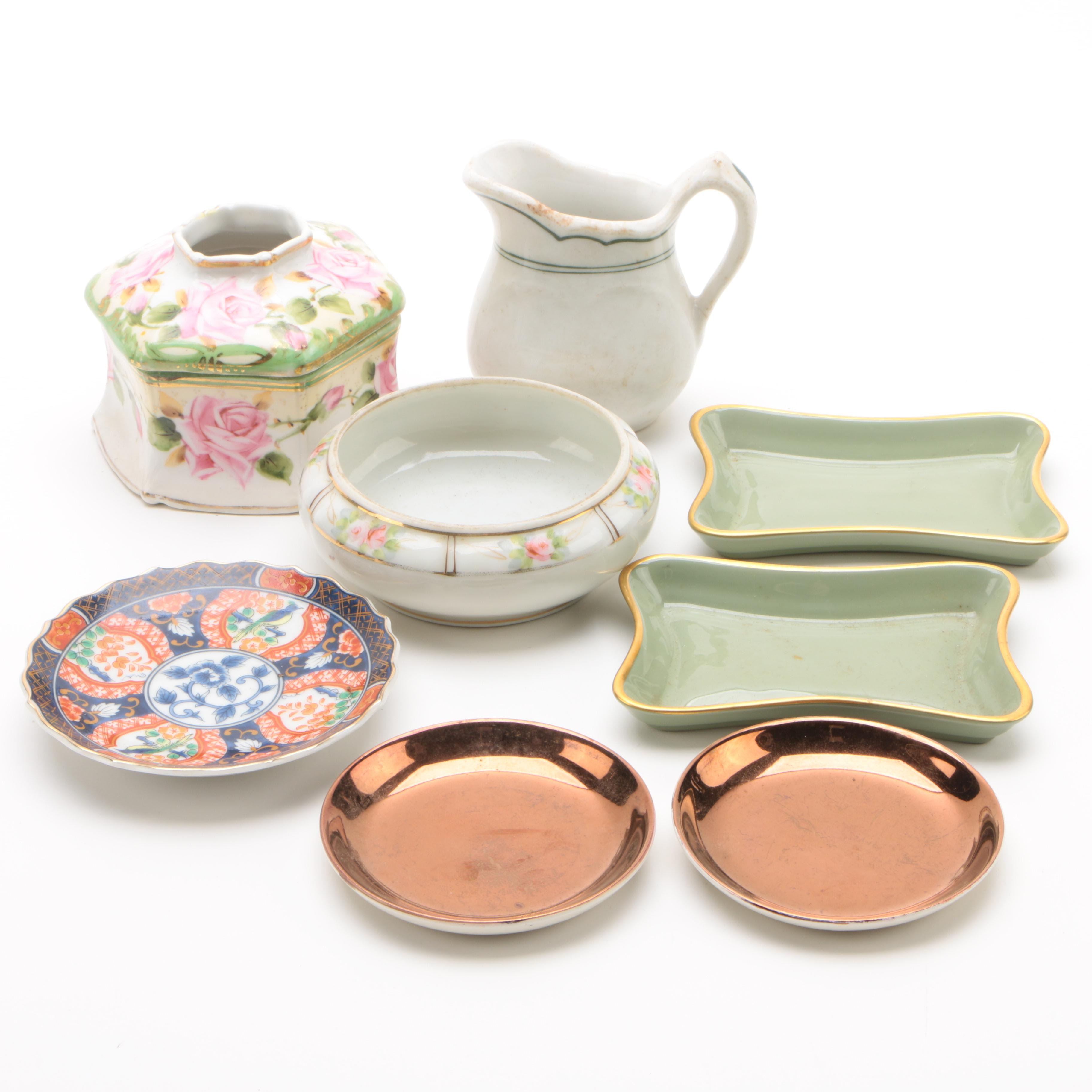 Porcelain and Ceramic Tableware and Decor Featuring Nippon