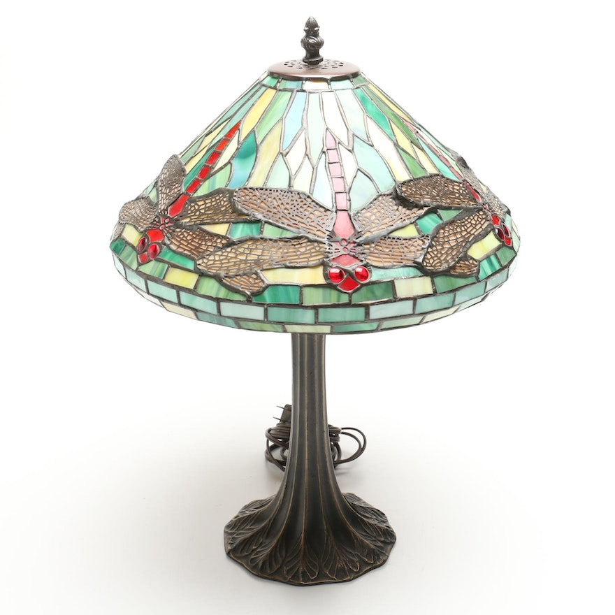 Hillside Lamp Company Stained Glass Table Lamp