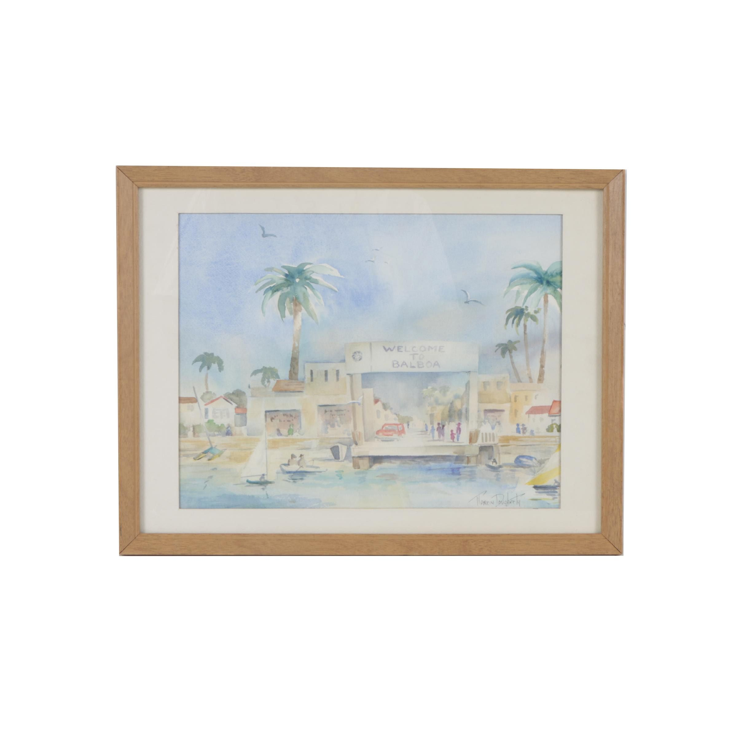 Marion Dougherty Watercolor Painting of Balboa